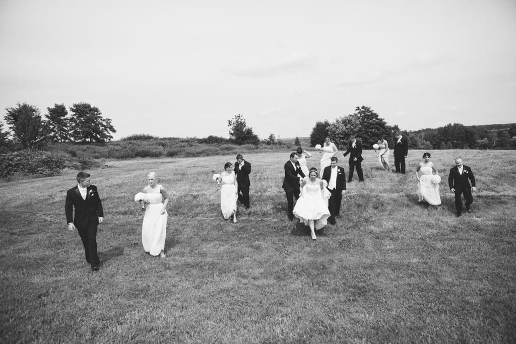 Bridal-Party-Walking-Field-Zsuzsi-Pal-Photography-Wedding