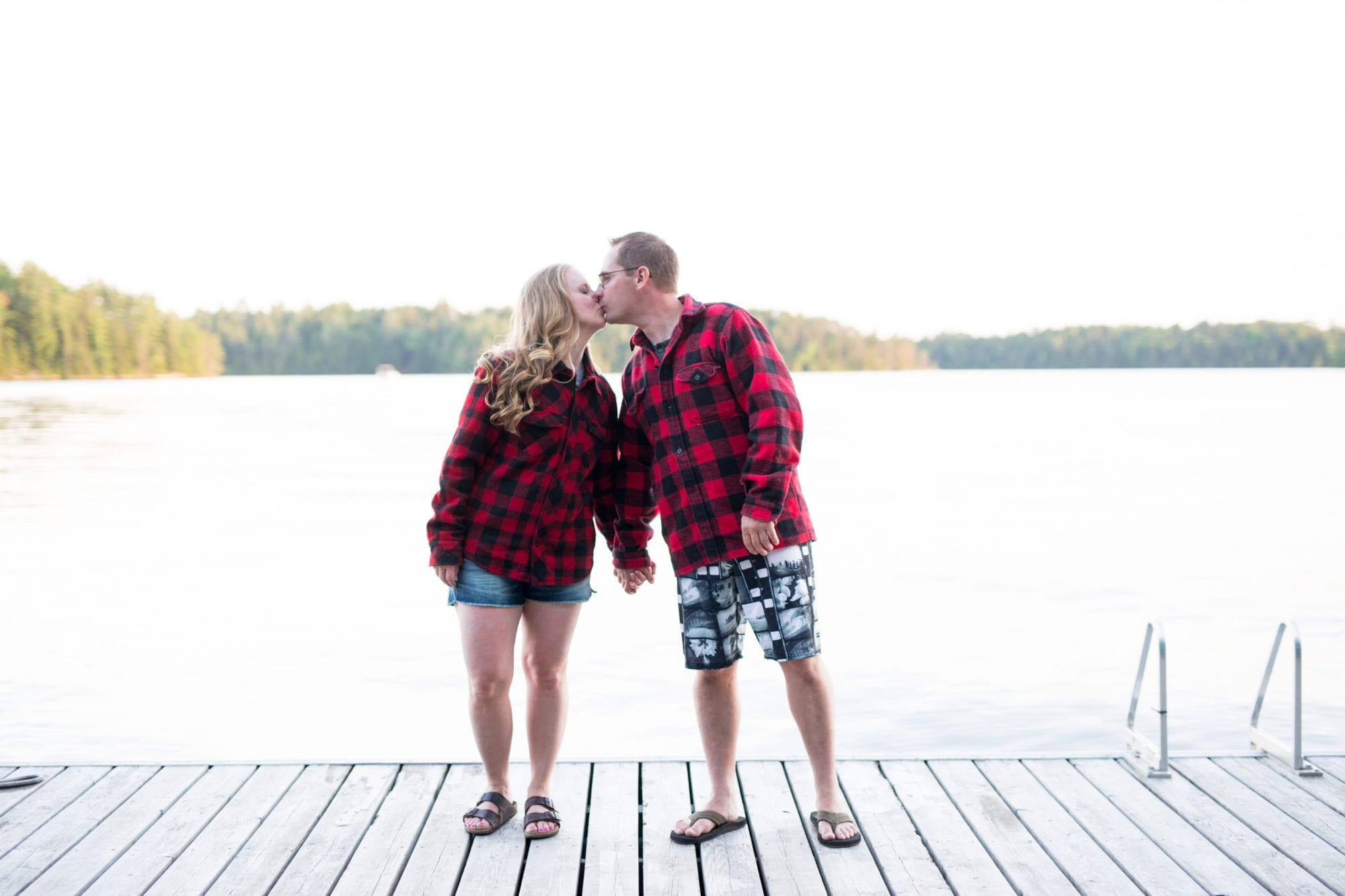 Matching Flannel Engagement Zsuzsi Pal Photography