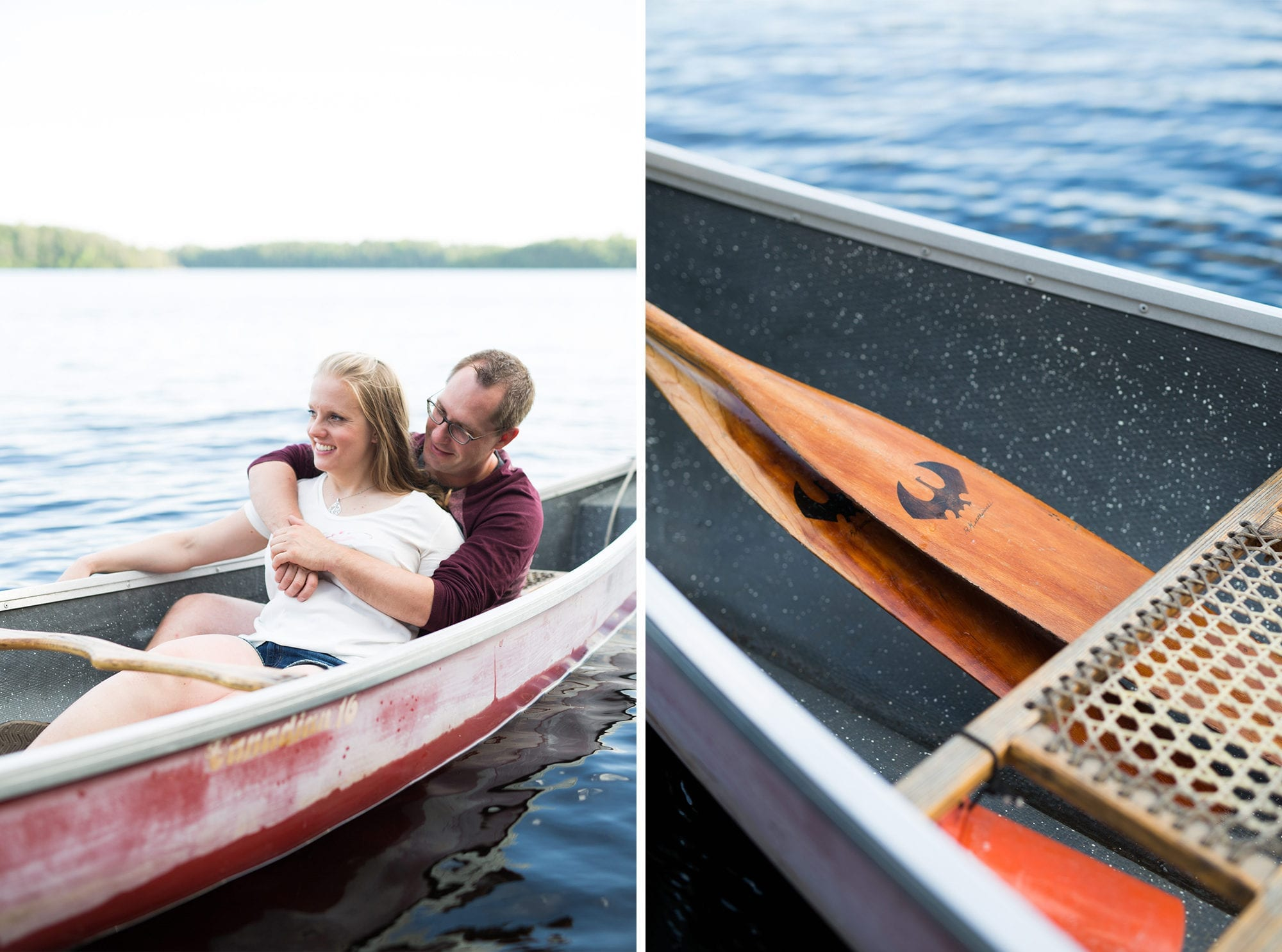 Canoe Paddles Engagement Zsuzsi Pal Photography