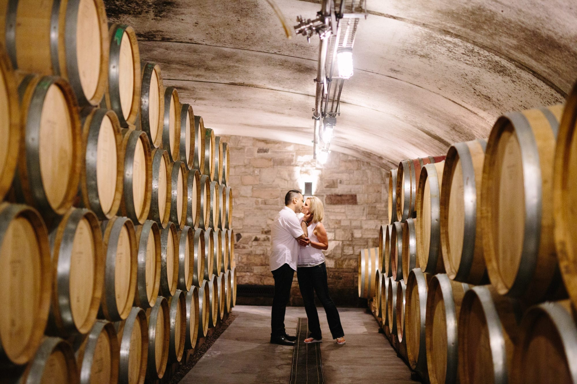 Kiss Wine Cellar Tawse Winery Engagement Zsuzsi Pal Photography