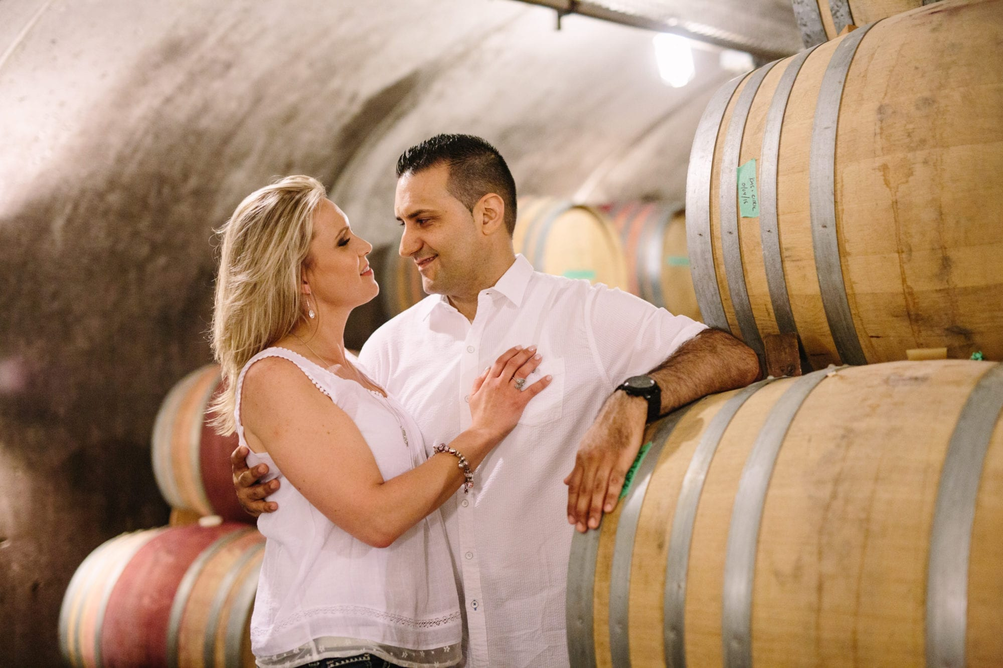 Wine Cellar Tawse Winery Engagement Zsuzsi Pal Photography