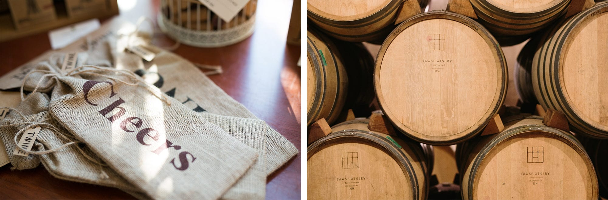 Wine Barrel Cellar Tawse Winery Engagement Zsuzsi Pal Photography