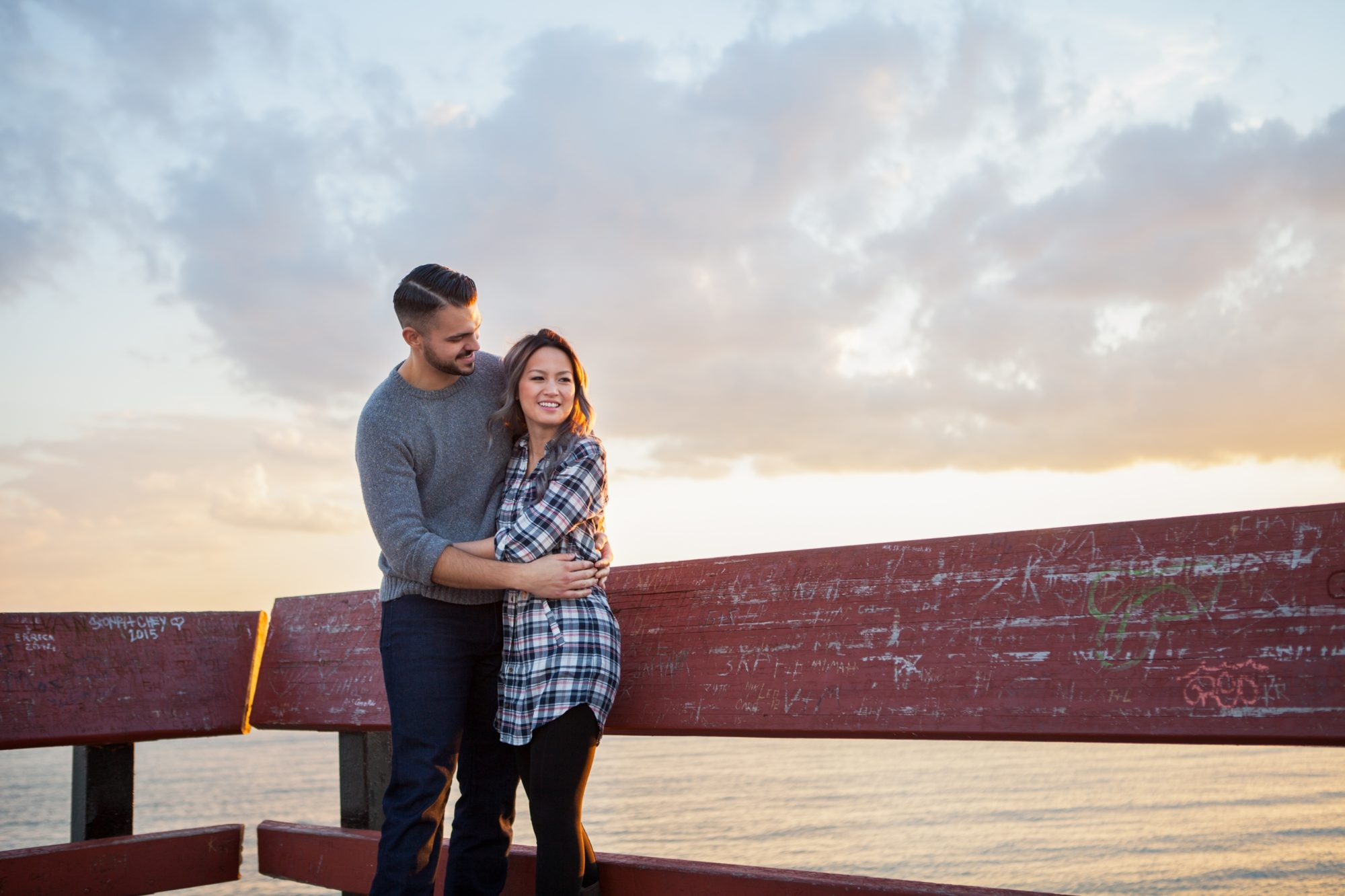 Pier Sunset Toronto Island Engagement Shoot Zsuzsi Pal Photography