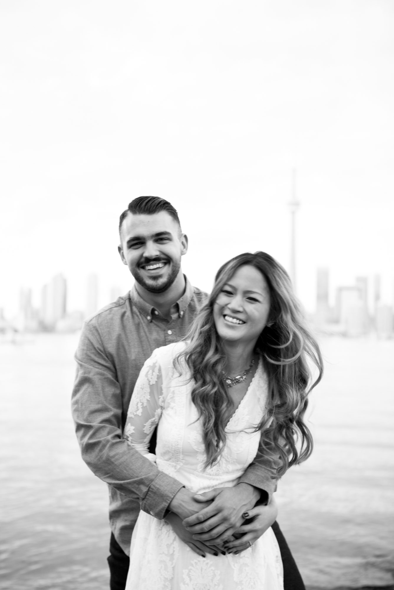 Couple Skyline Toronto Island Engagement Shoot Zsuzsi Pal Photography
