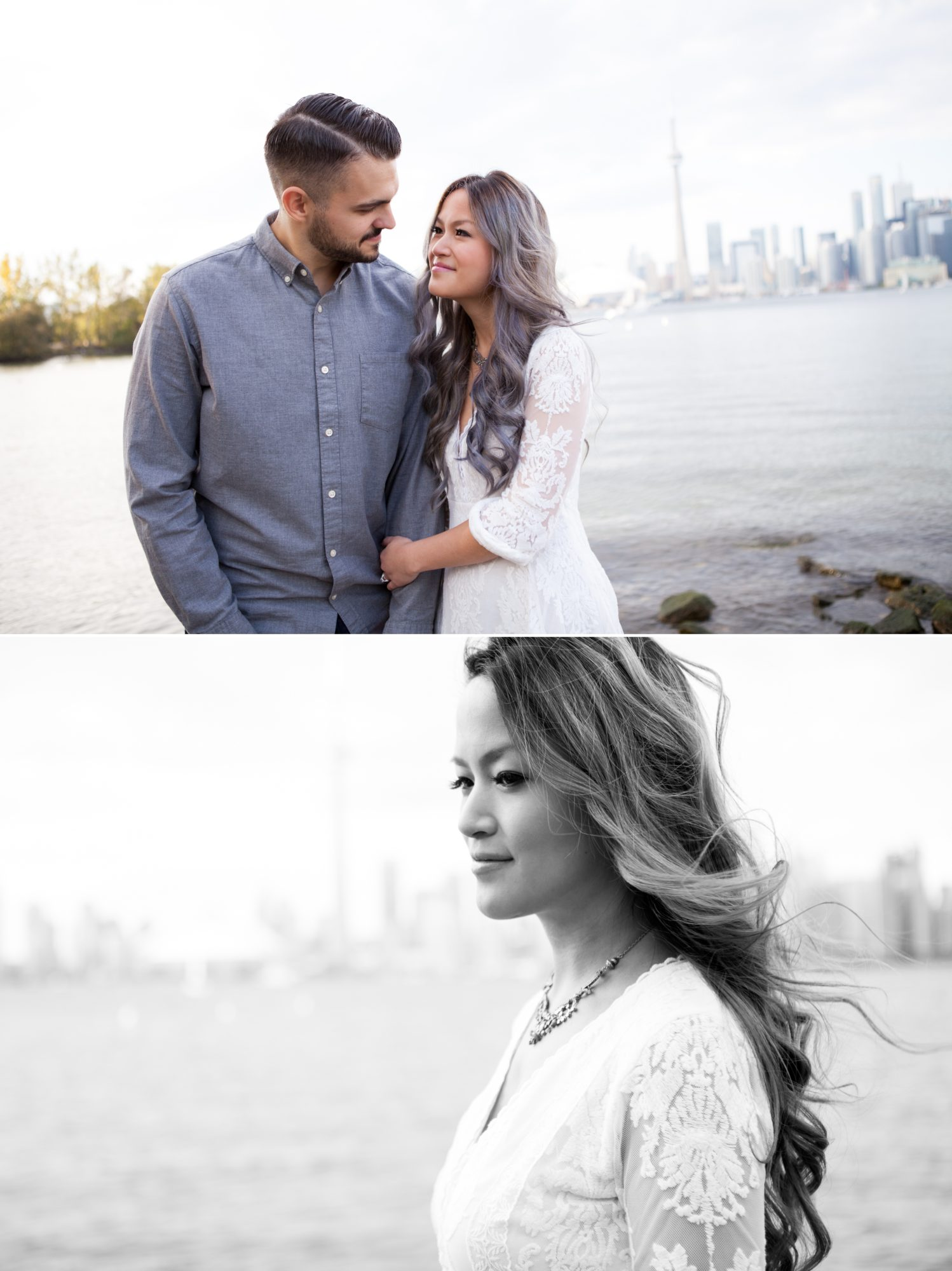 Skyline Couple CN Tower Toronto Island Engagement Shoot Zsuzsi Pal Photography
