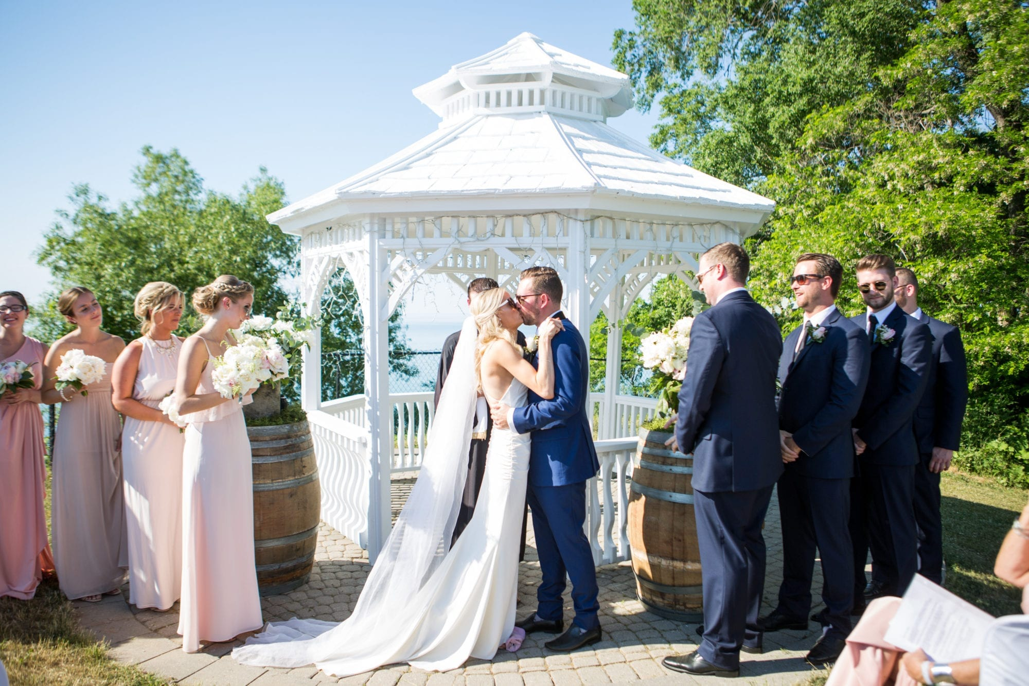 Ceremony Kiss Legends Winery Wedding Zsuzsi Pal Photography