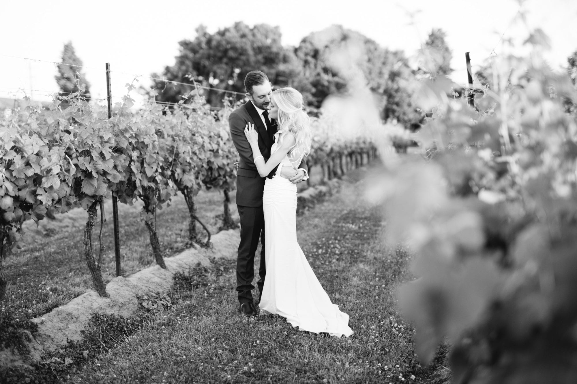 Black and White Couple Legends Winery Wedding Zsuzsi Pal Photography
