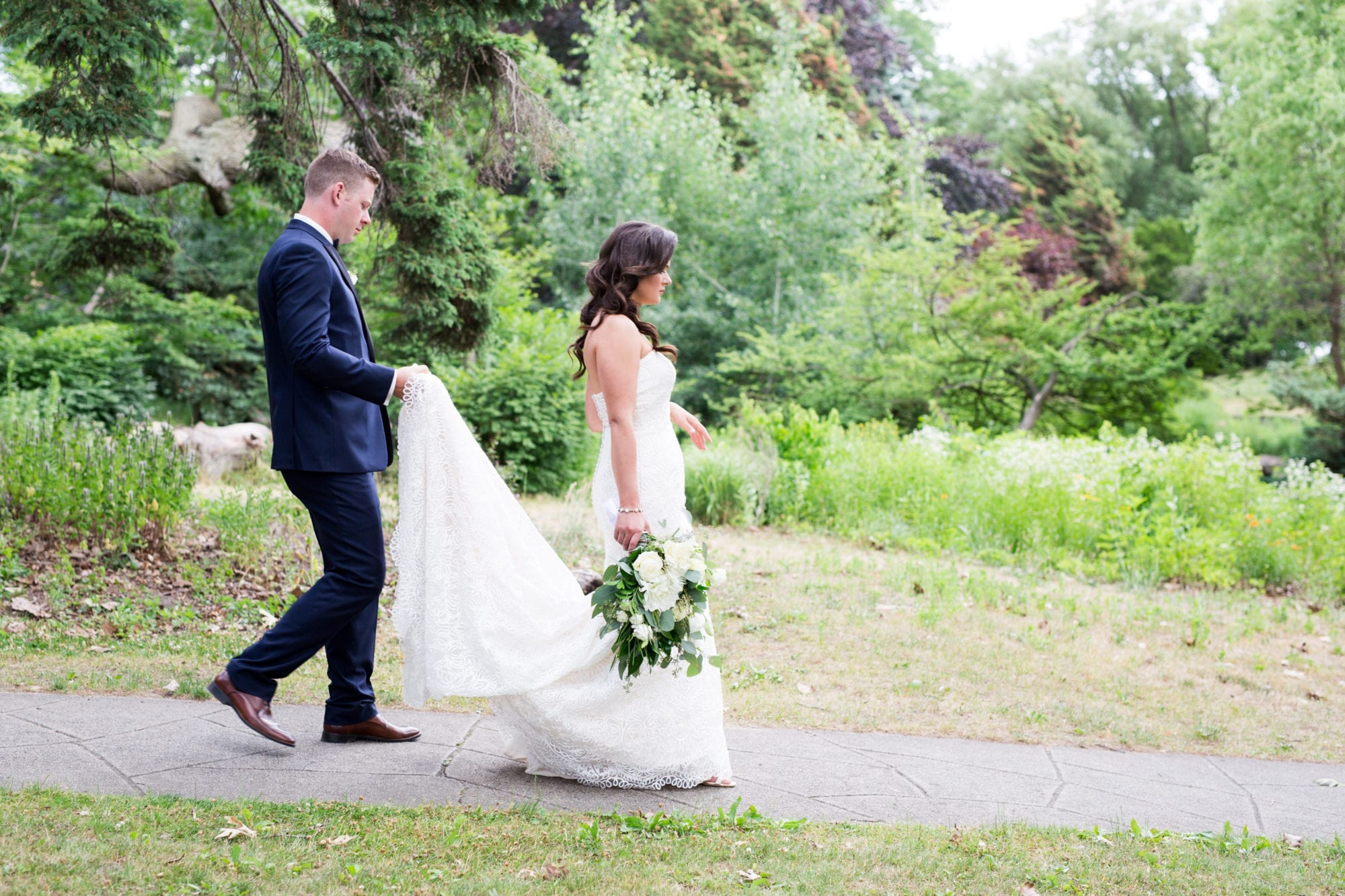High Park Walking Bride Groom Zsuzsi Pal Photography Wedding Toronto