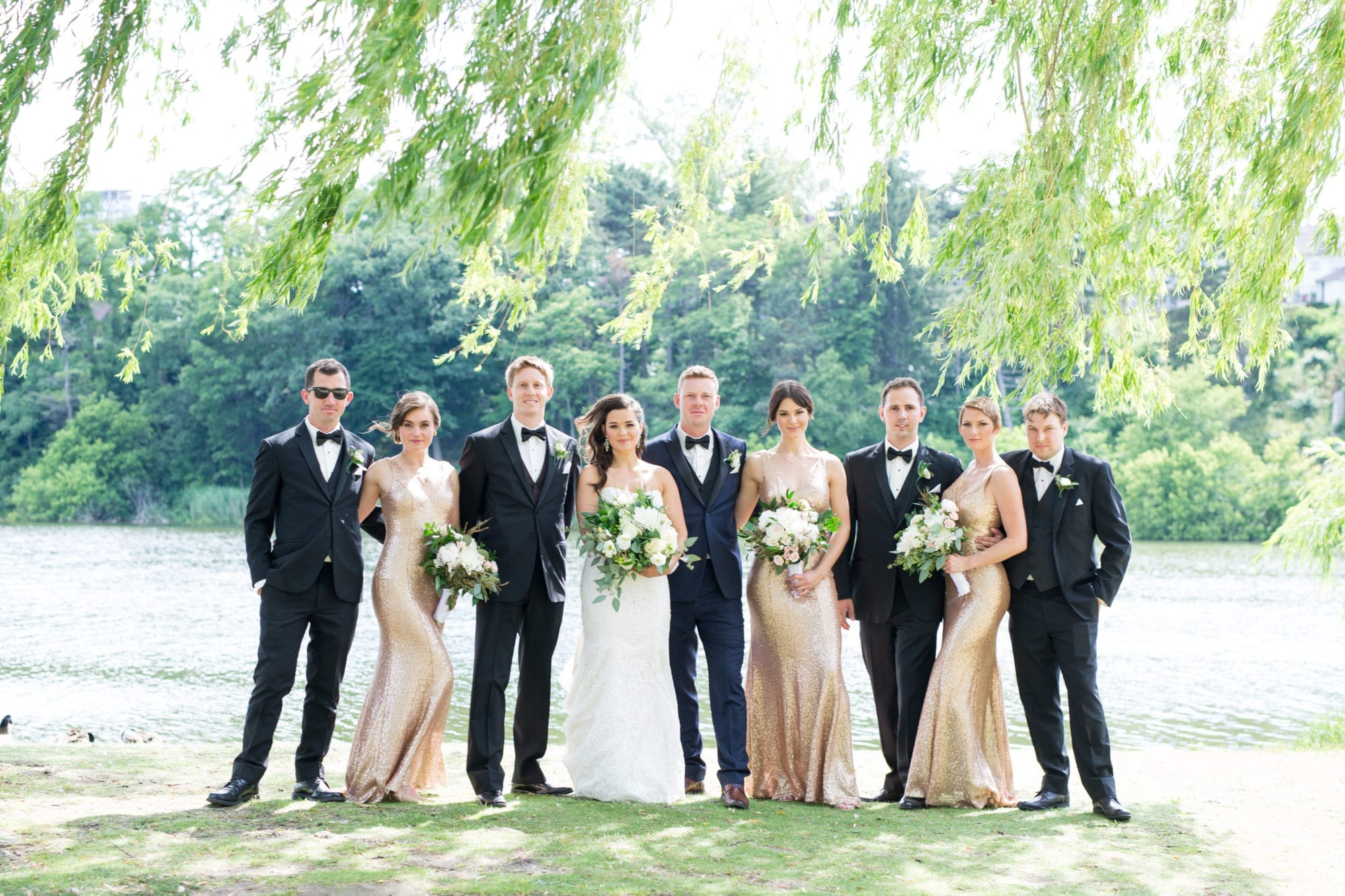 Wedding Party Bridal Groomsmen High Park Zsuzsi Pal Photography Wedding Toronto