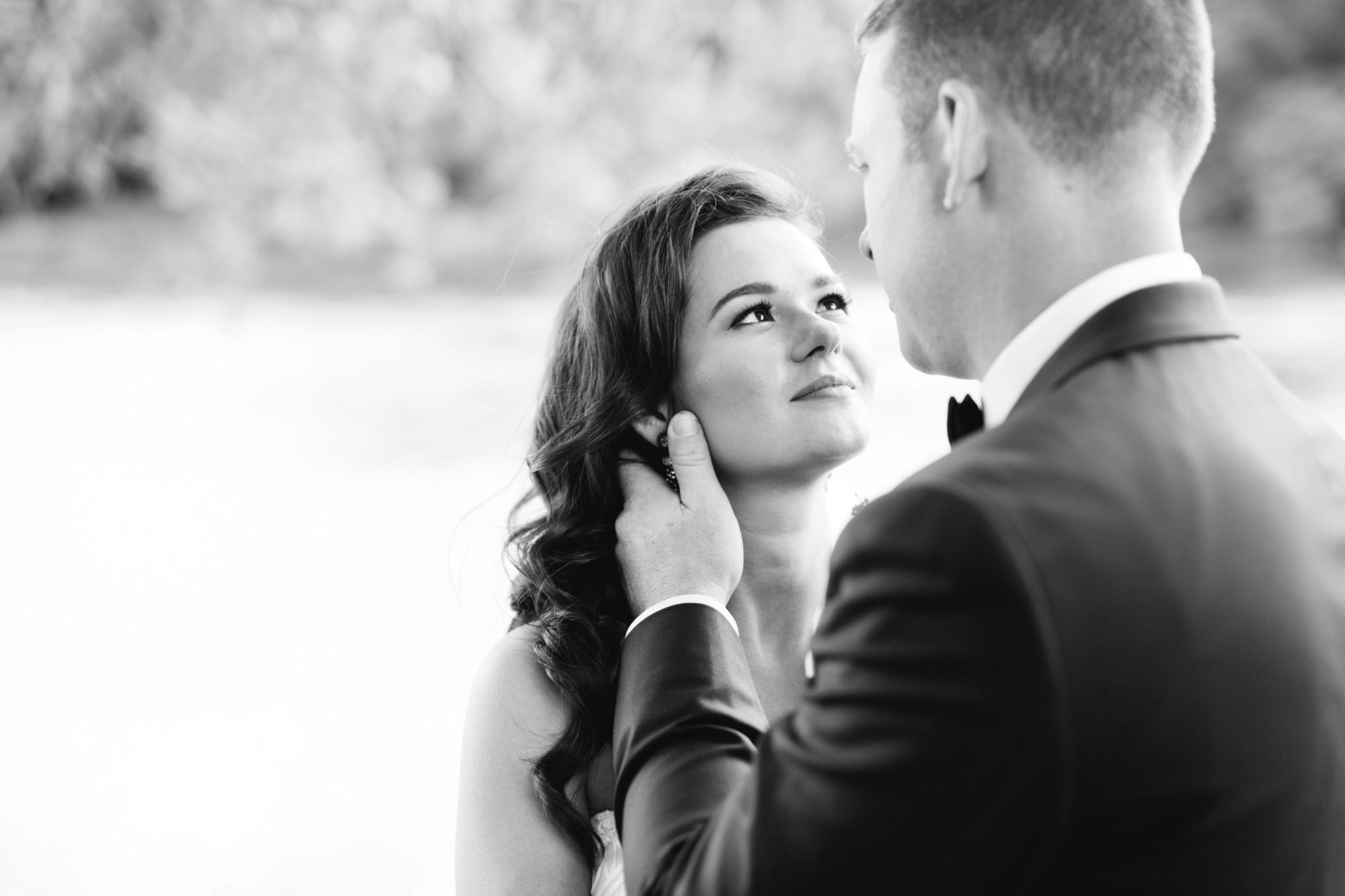 Couple Portrait Black and White Zsuzsi Pal Photography Toronto Wedding