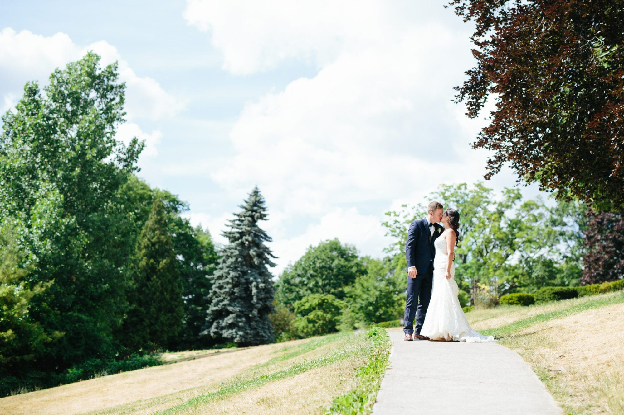 High Park Kiss Zsuzsi Pal Photography Toronto Wedding