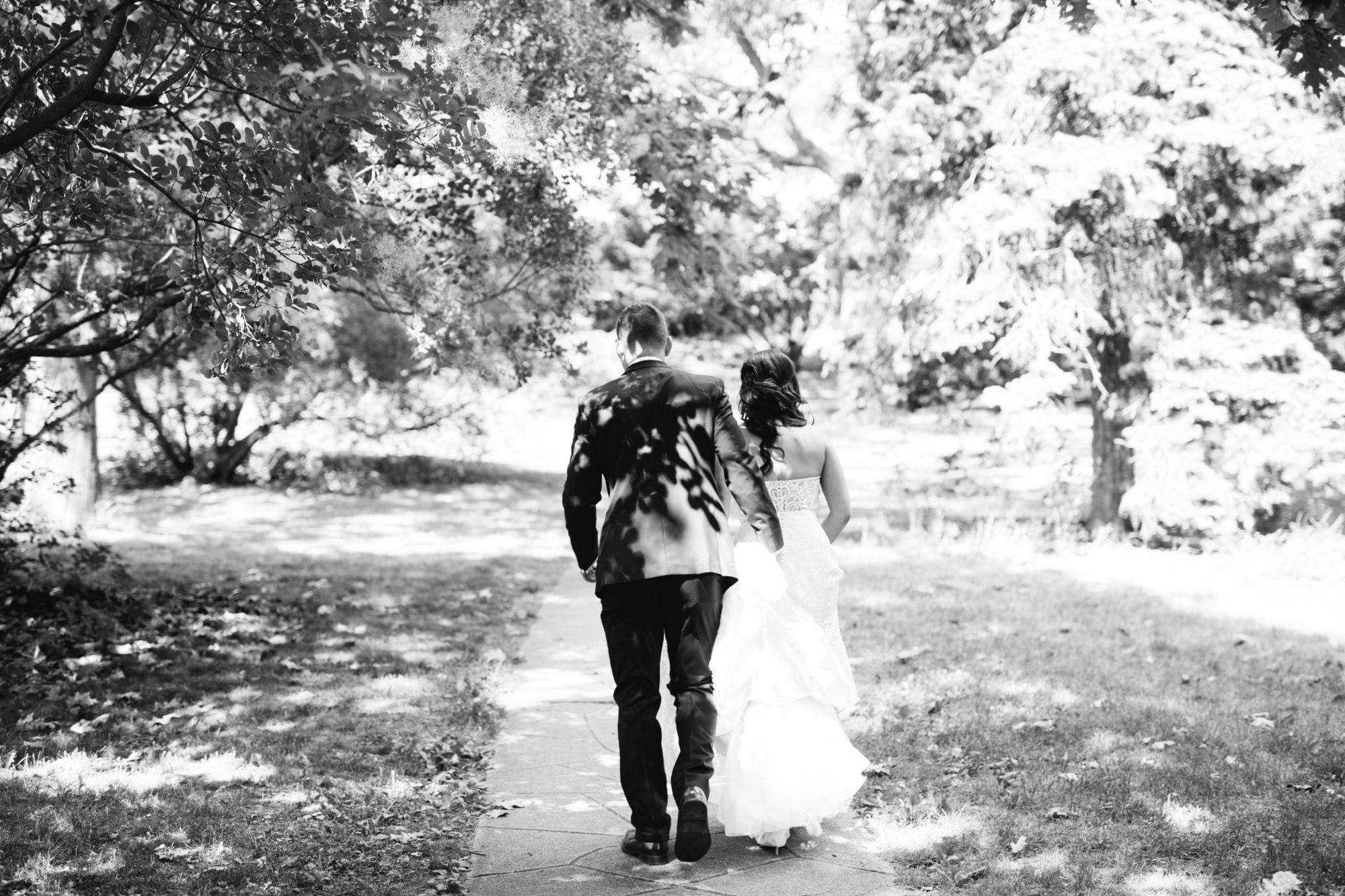 Black and White Walking Zsuzsi Pal Photography Toronto Wedding