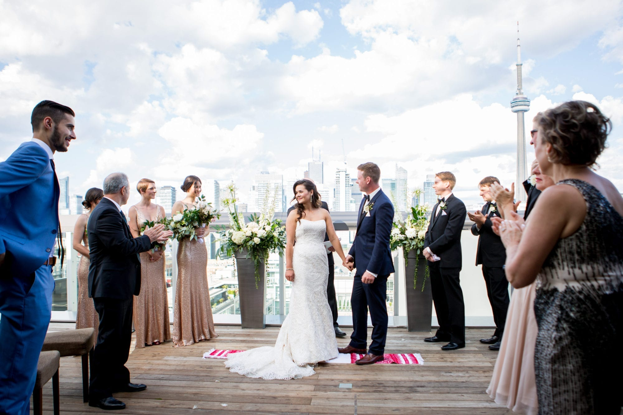 Rooftop Ceremony CN Tower Zsuzsi Pal Photography Toronto Wedding