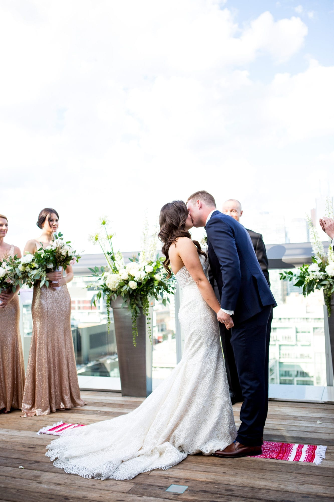 Ceremony First Kiss Zsuzsi Pal Photography Toronto Wedding