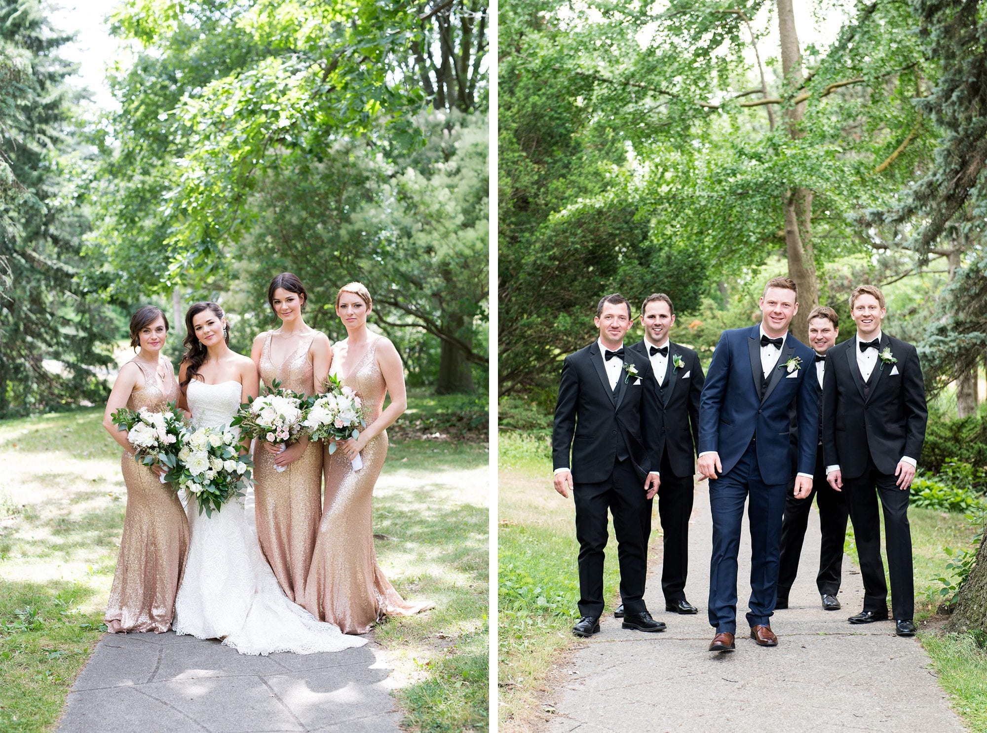 Bridal Party Groomsmen Zsuzsi Pal Photography Toronto Wedding
