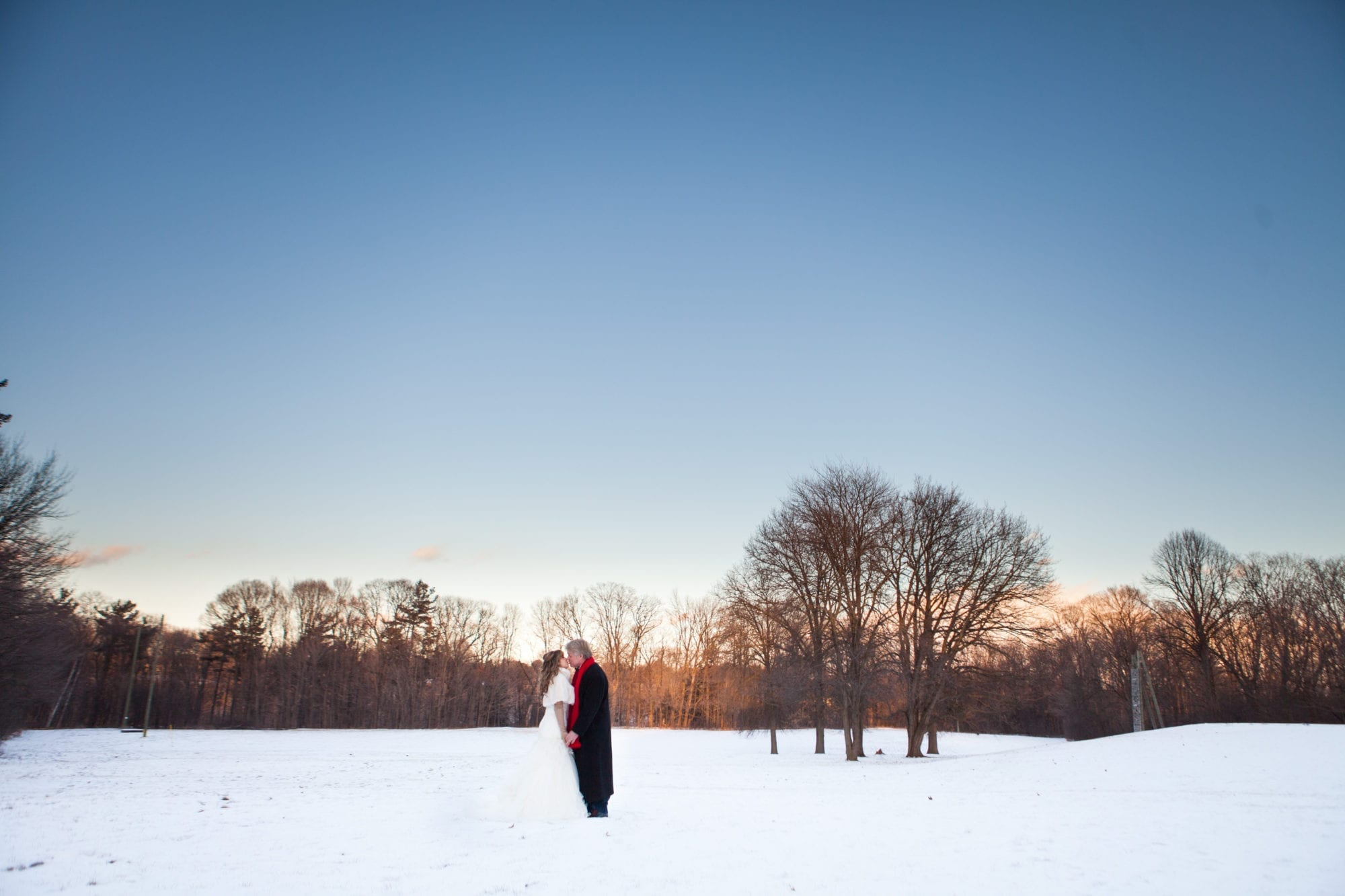 Snow Field Portrait Zsuzsi Pal Photography Wedding Estates of Sunnybrook