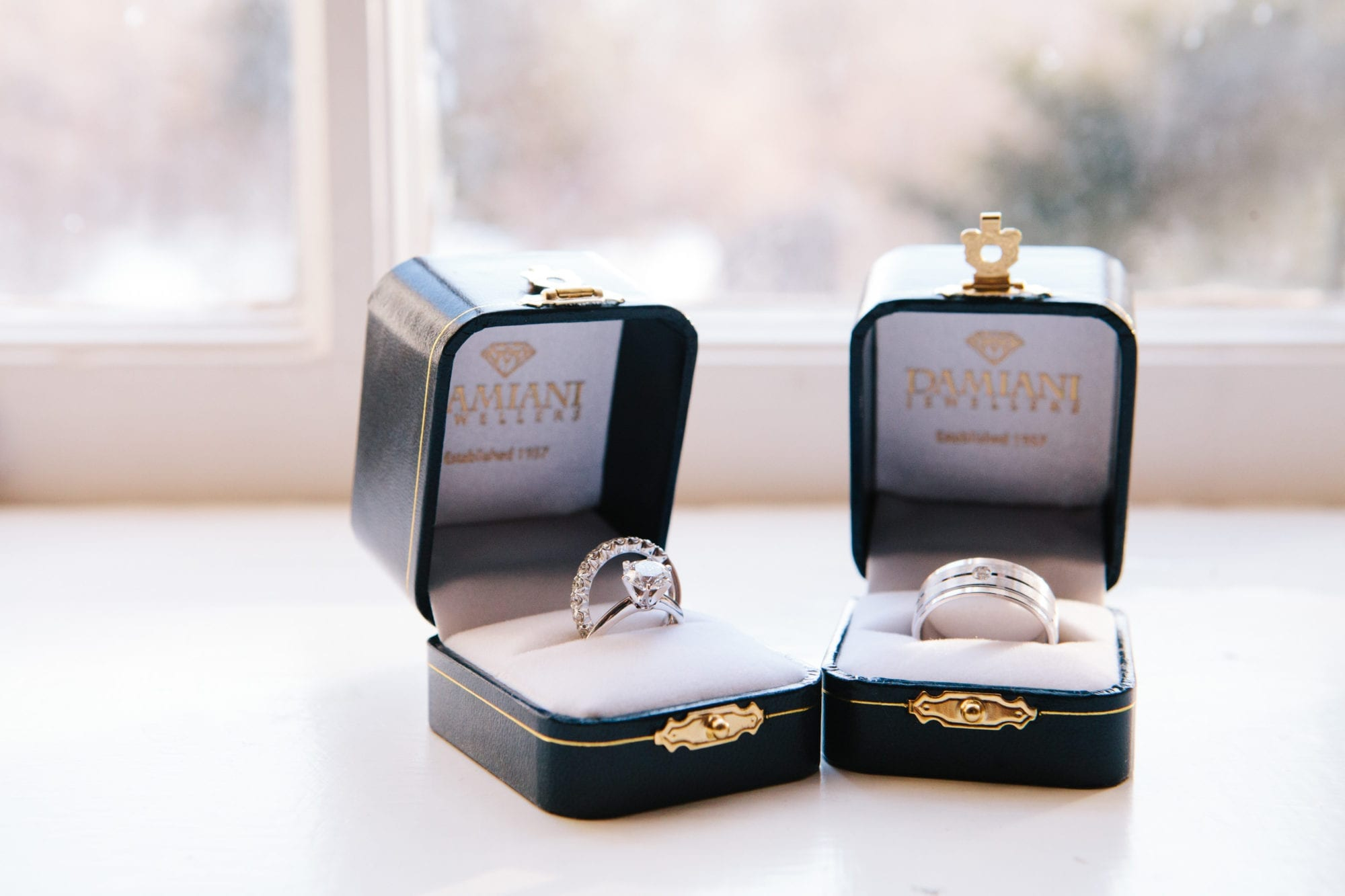 Rings Damiani Zsuzsi Pal Photography Wedding Estates of Sunnybrook