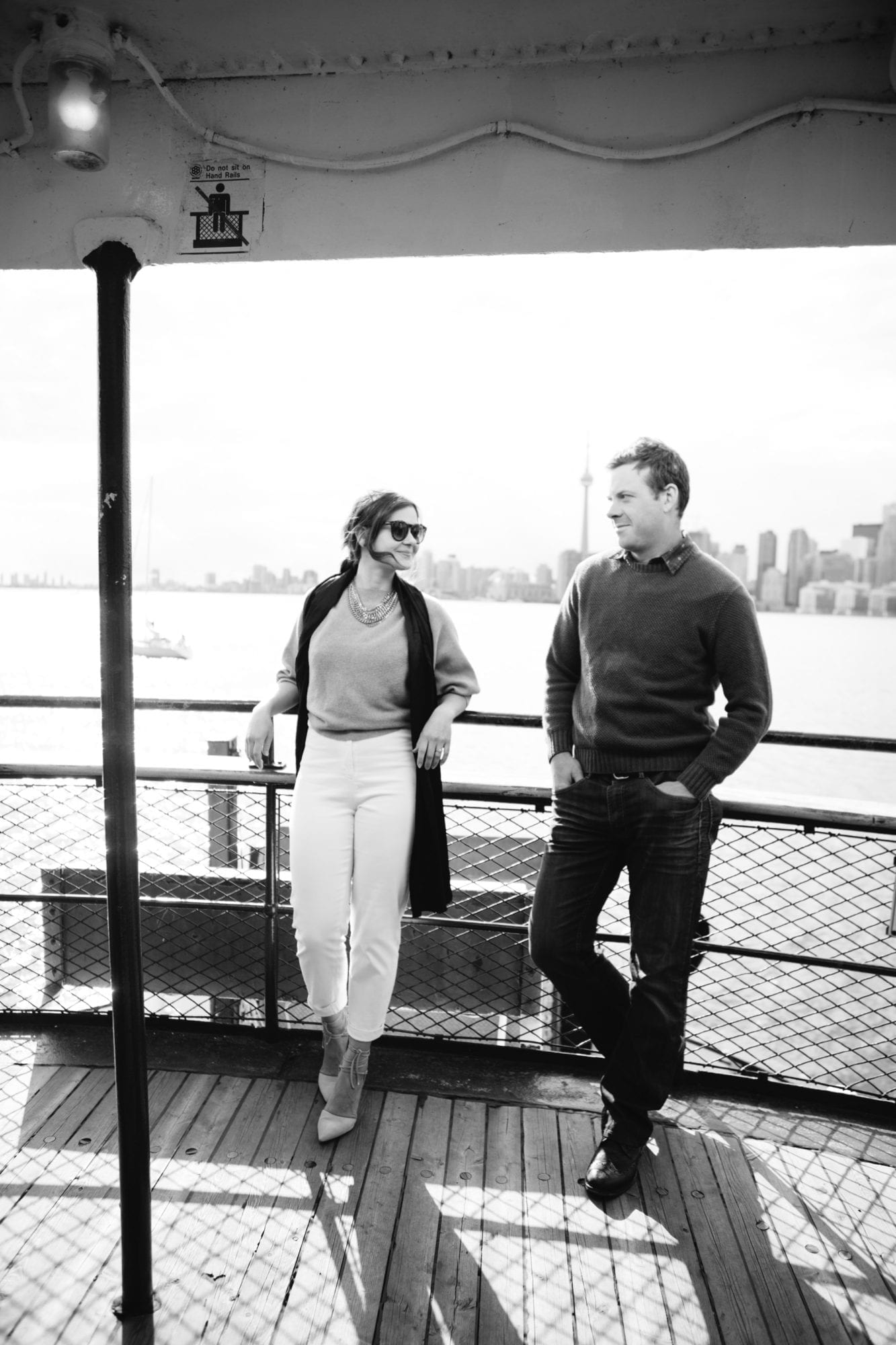 Ferry Toronto Island Engagement Zsuzsi Pal Photography