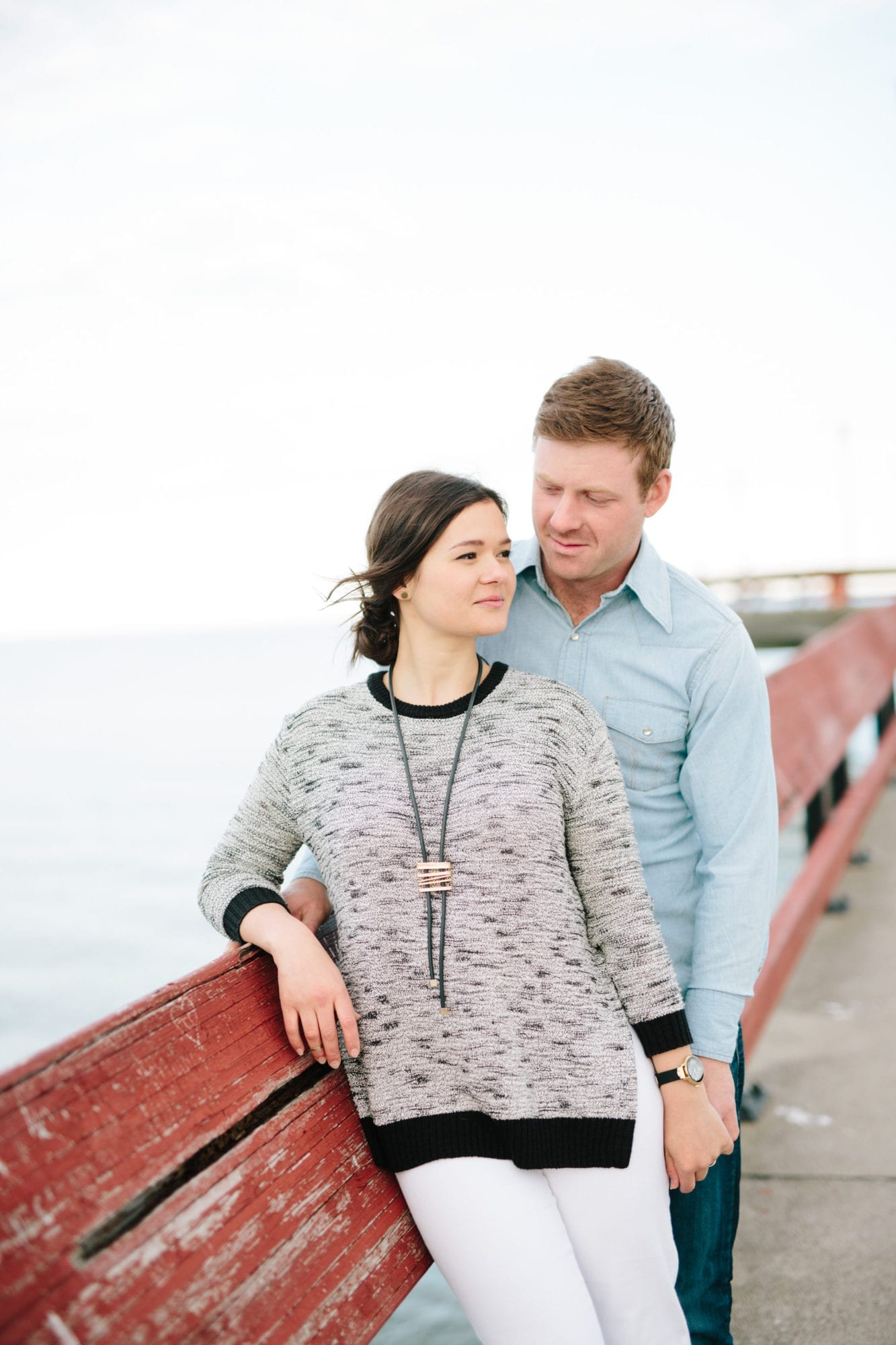 Pier Fence Toronto Island Engagement Zsuzsi Pal Photography