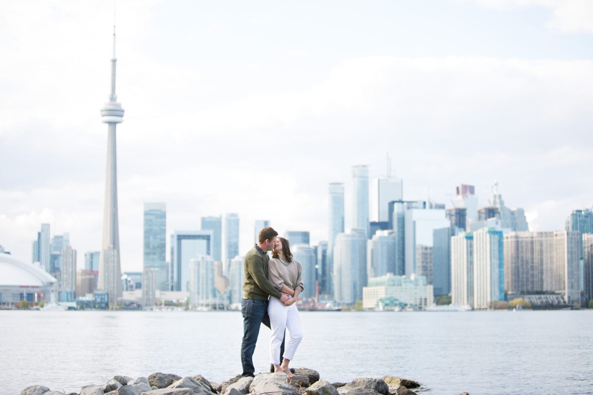 Toronto Skyline Toronto Island Engagement Zsuzsi Pal Photography