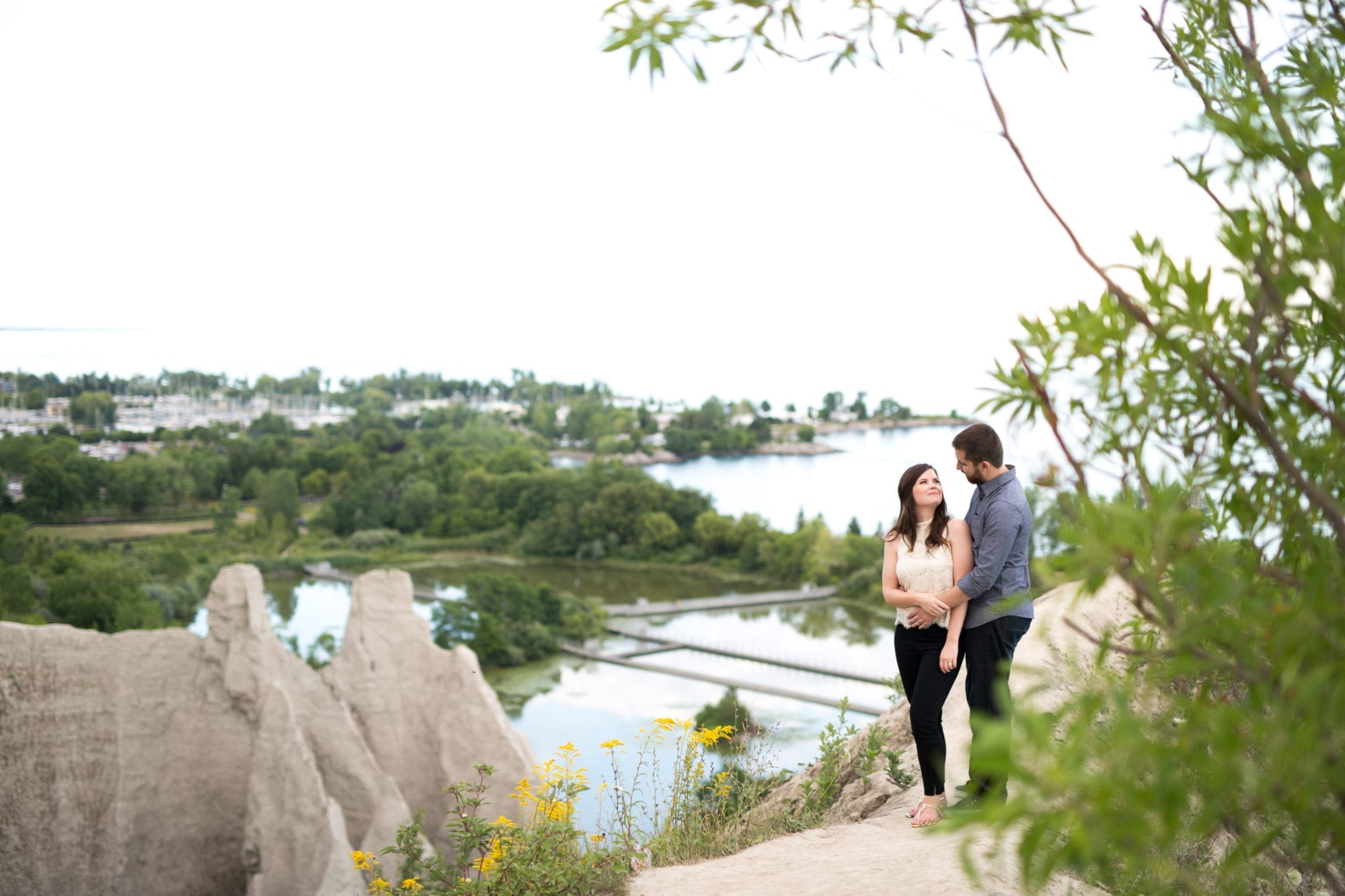 Landscape Scarborough Bluffs Engagement Zsuzsi Pal Photography