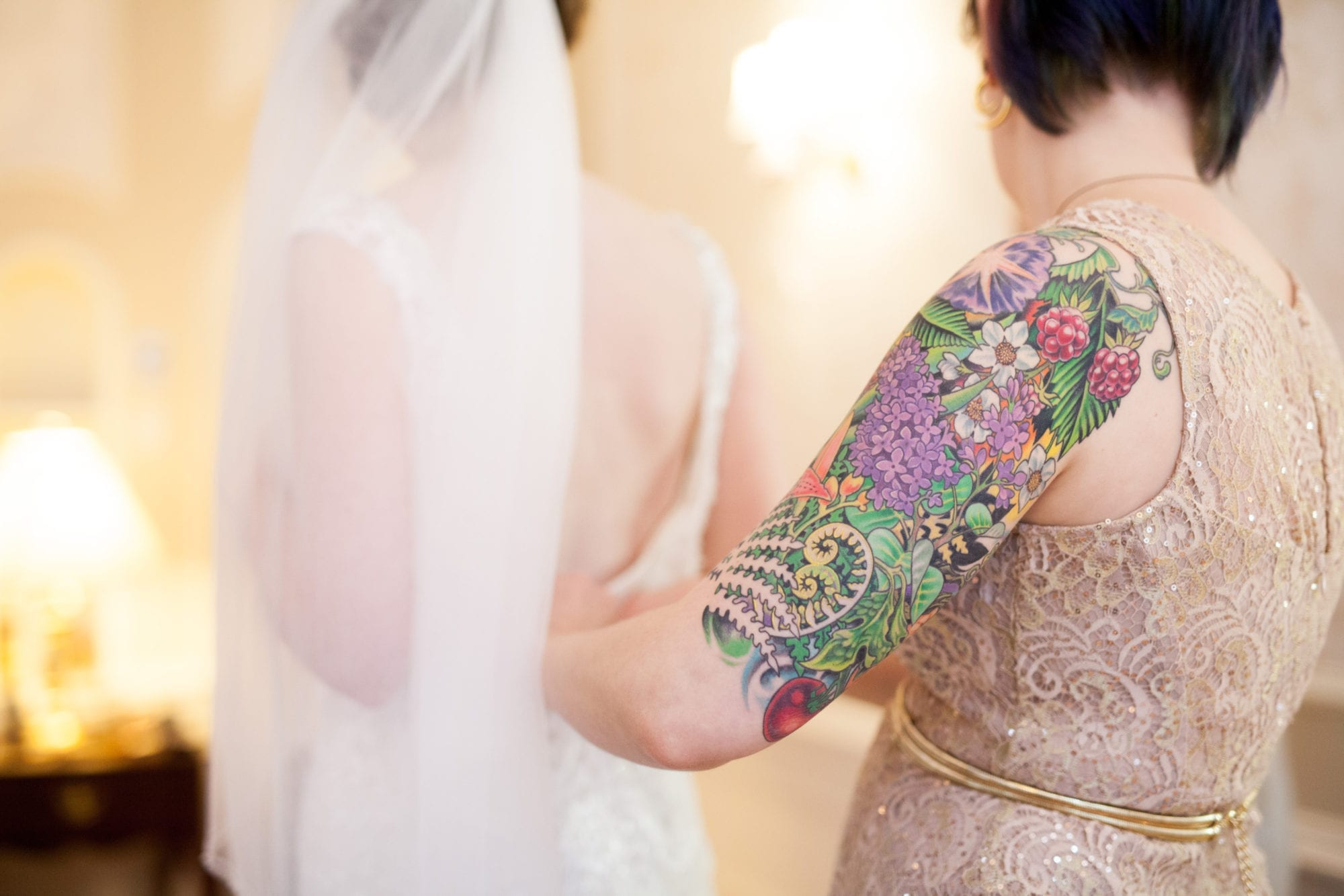 Tattoo Bride Heintzman House Wedding Zsuzsi Pal Photography