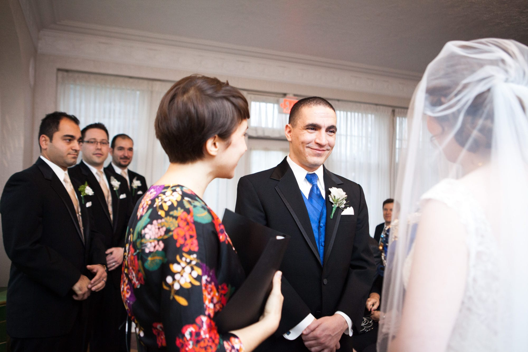 Ceremony Groom Heintzman House Wedding Zsuzsi Pal Photography