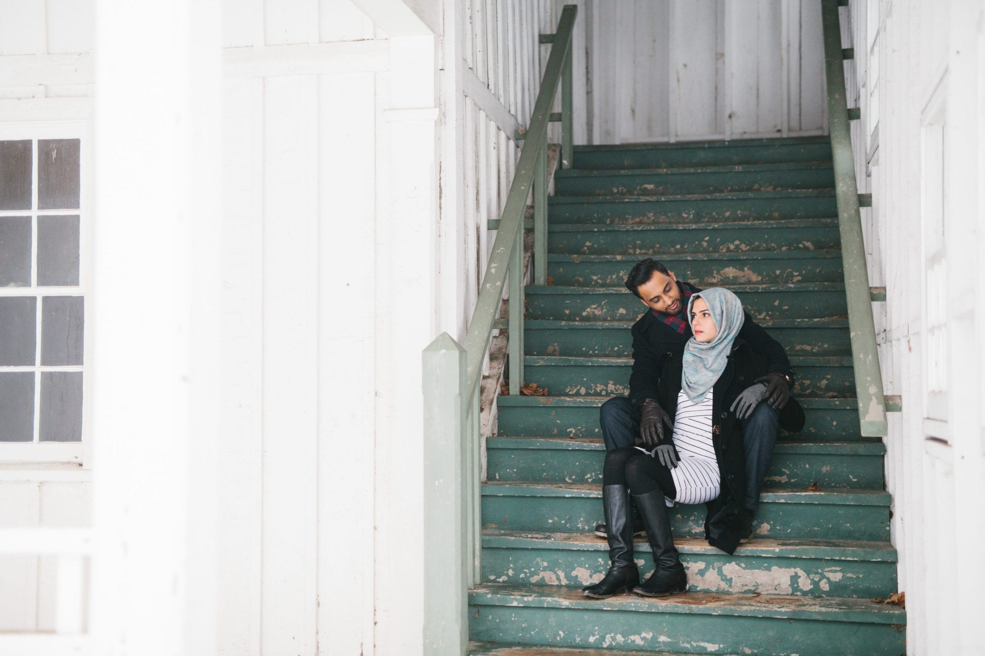 Staircase Engagement Milton Scotdale Farm Zsuzsi Pal Photography