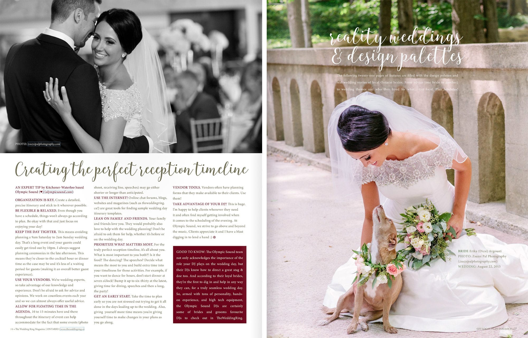 The Wedding Ring Magazine Cover Zsuzsi Pal Photography Spreads