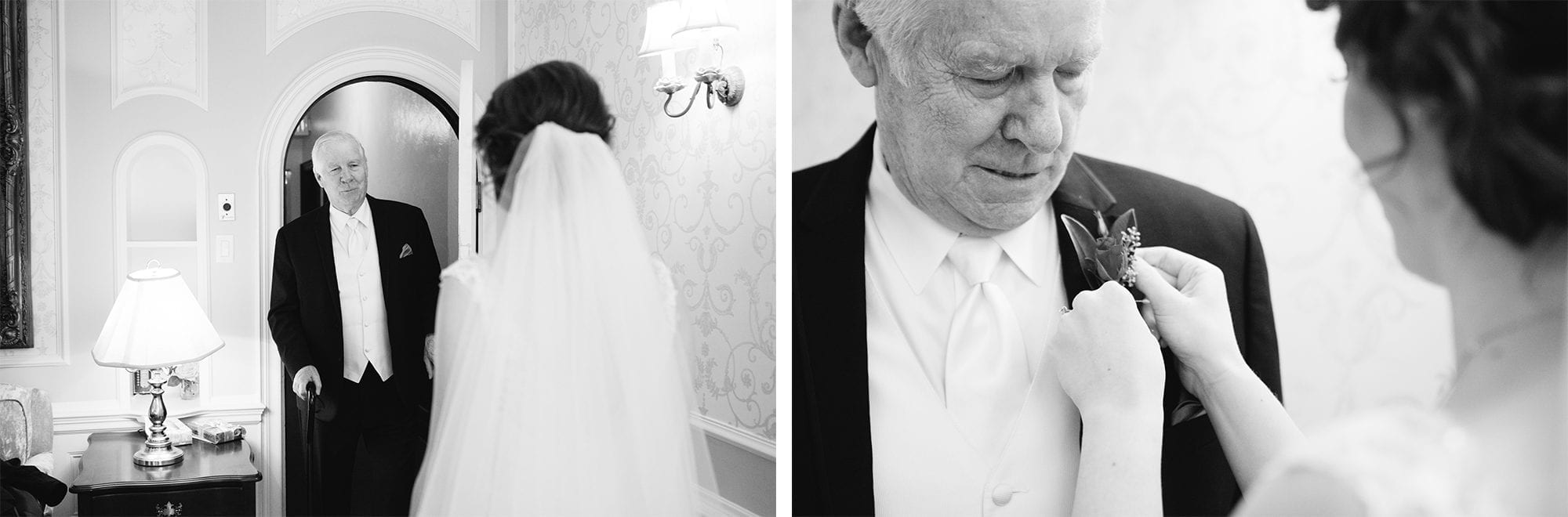 Father First Look Heintzman House Wedding Zsuzsi Pal Photography