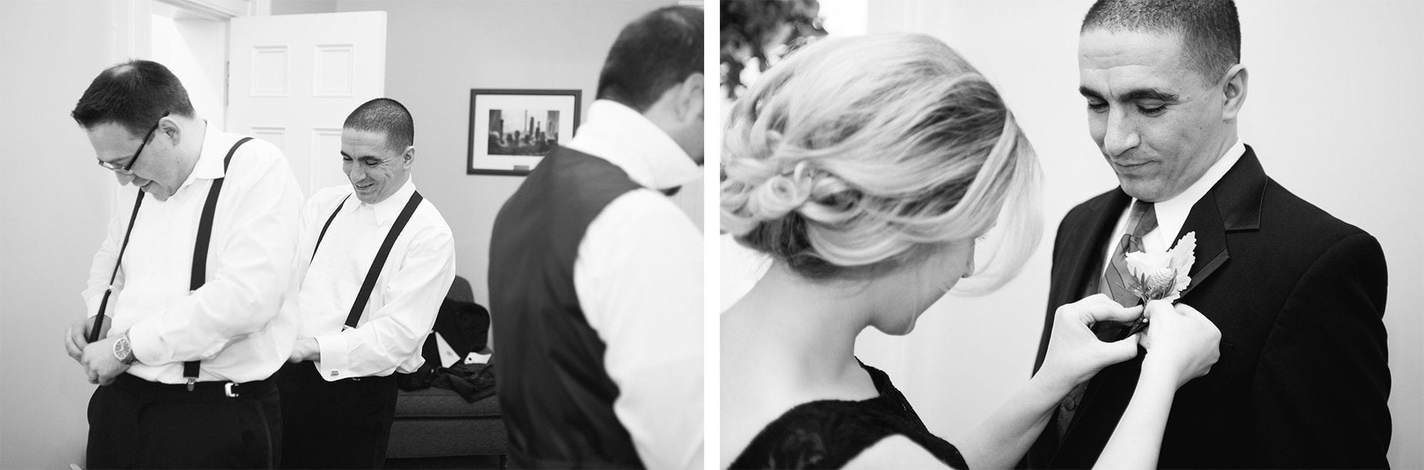Groom Prep Heintzman House Wedding Zsuzsi Pal Photography