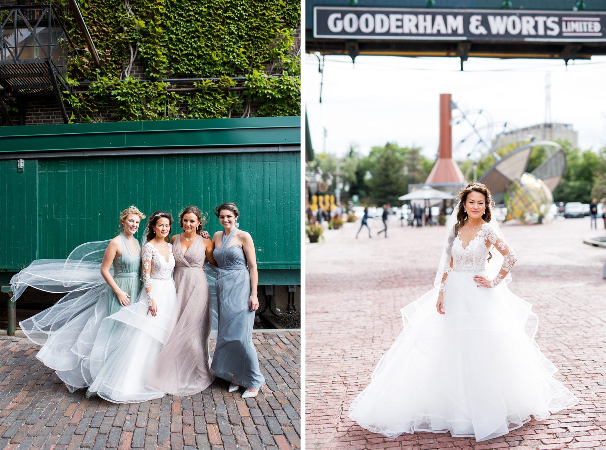 Bridesmaids Distillery District Toronto Wedding Zsuzsi Pal Photography Bride
