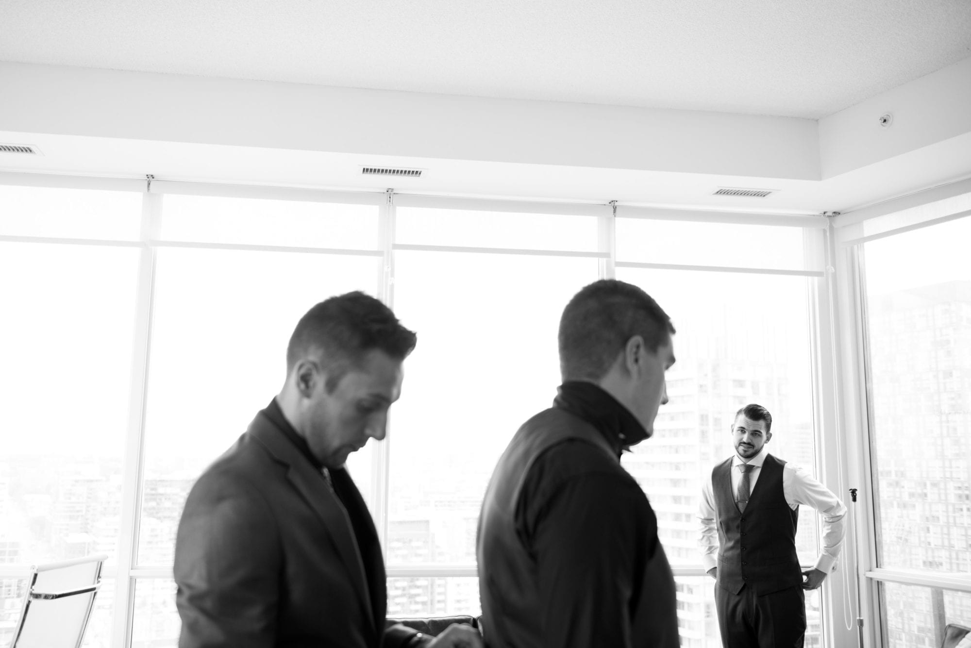 Groom Prep Black and White Toronto Wedding Zsuzsi Pal Photography