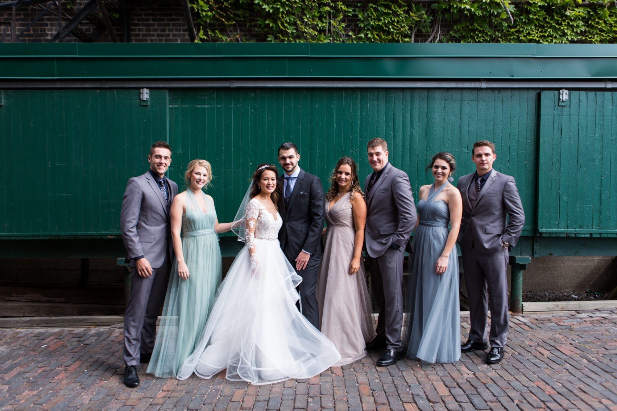 Bridal Party Wedding Party Distillery District Toronto Wedding Zsuzsi Pal Photography