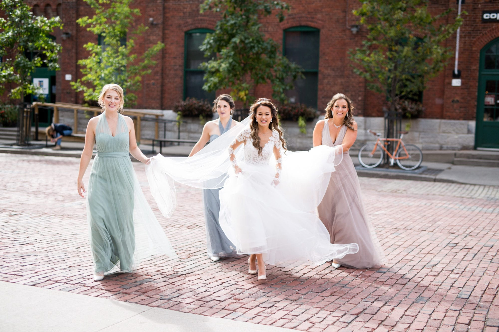 Bridesmaids Distillery District Toronto Wedding Zsuzsi Pal Photography