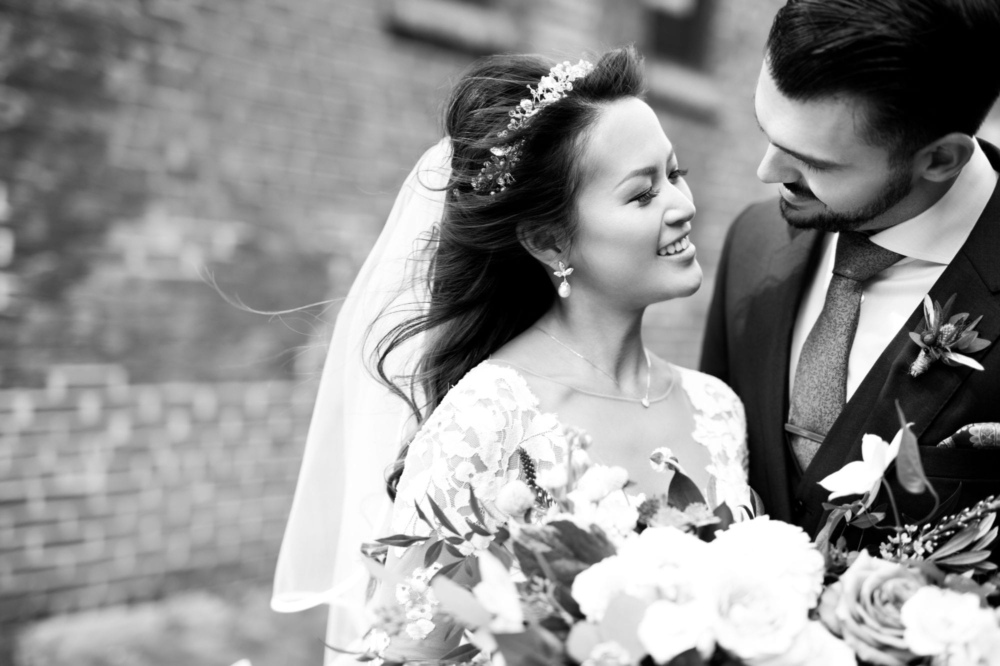 Black and White Couple Bride Groom Toronto Wedding Zsuzsi Pal Photography