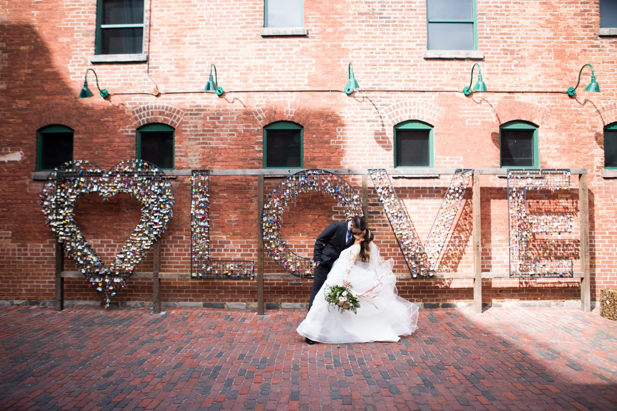 Love Distillery District Kiss Toronto Wedding Zsuzsi Pal Photography