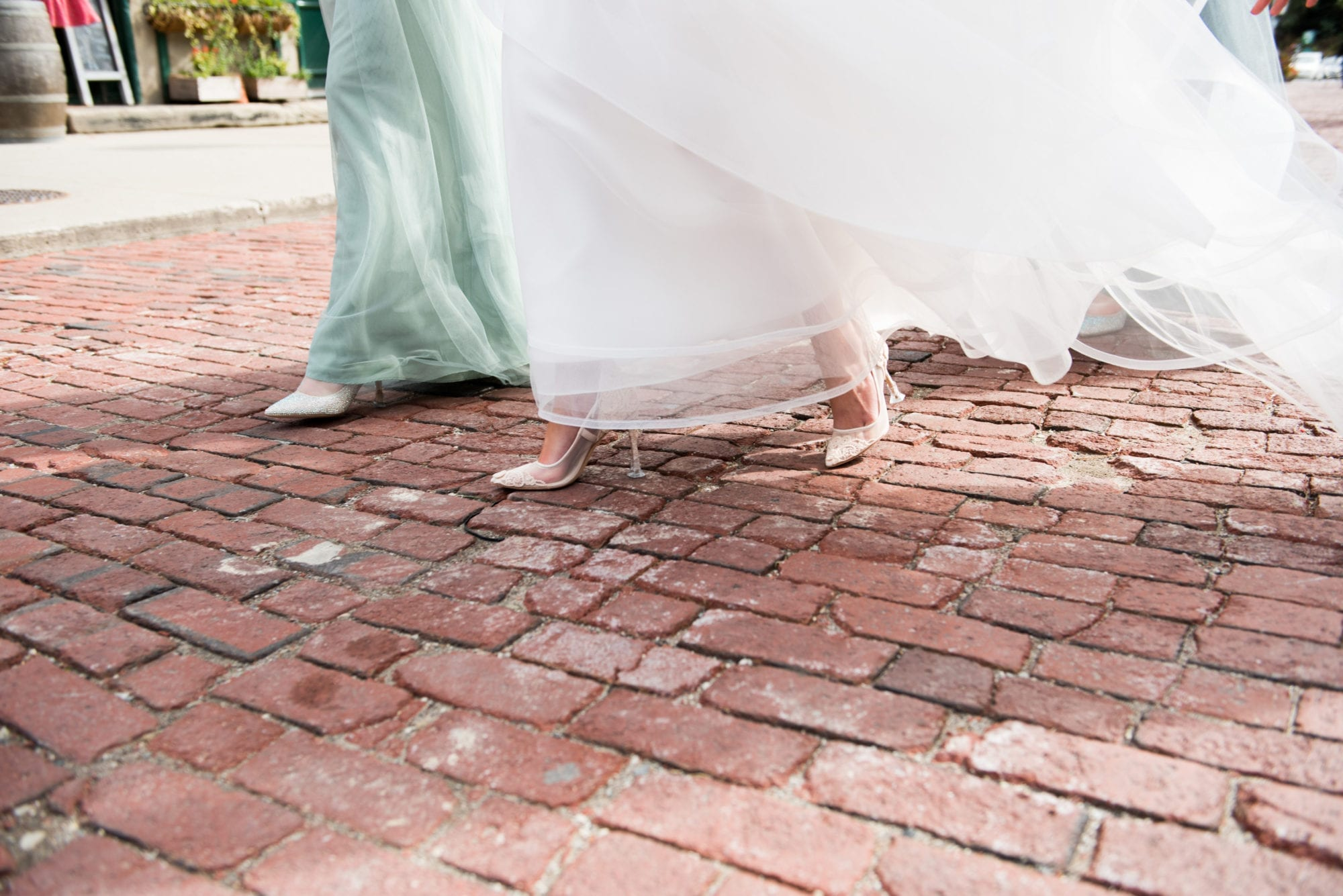 Bride Walk Cobblestone Distillery District Toronto Wedding Zsuzsi Pal Photography