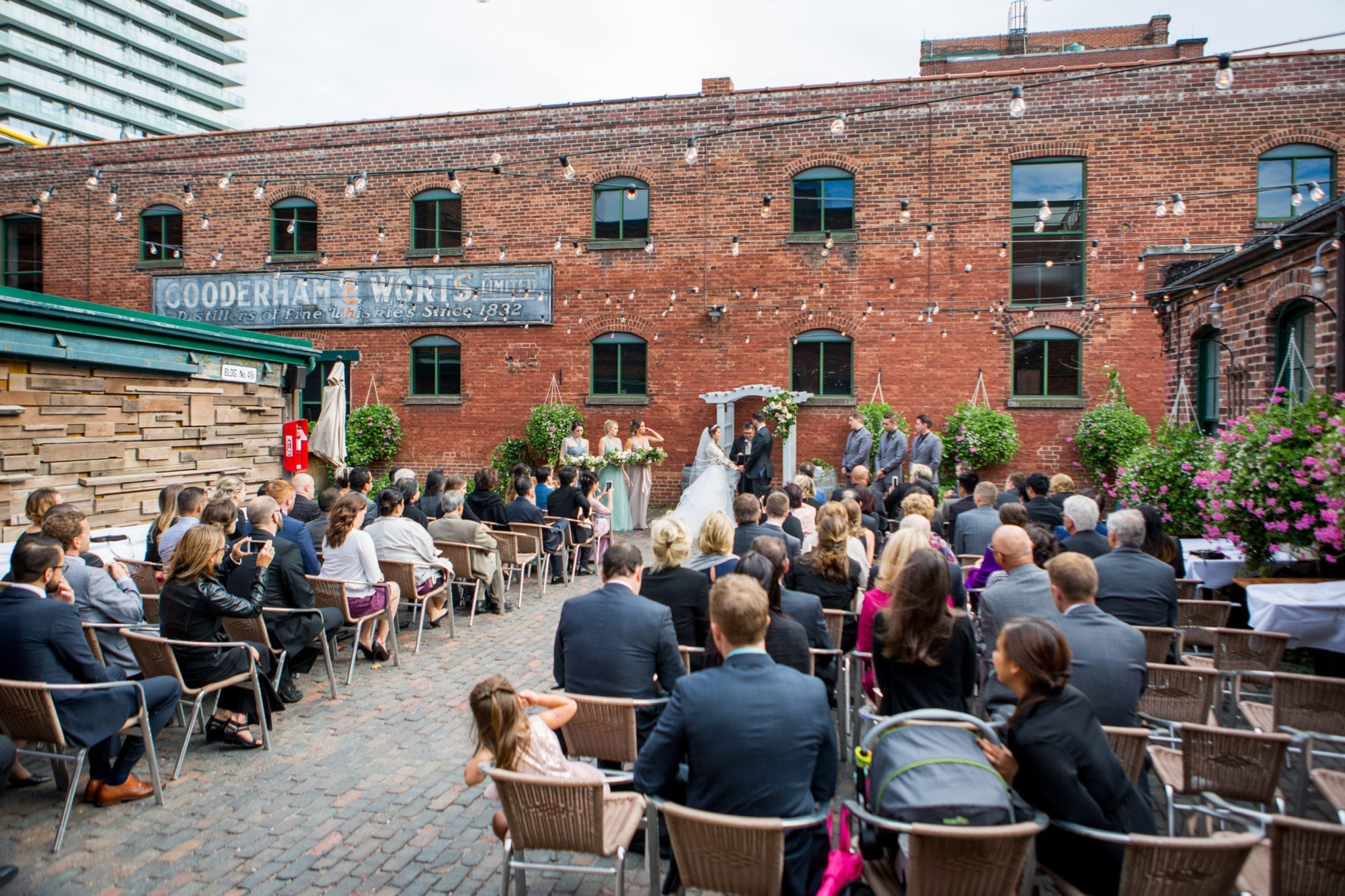 Archeo Distillery District Toronto Wedding Zsuzsi Pal Photography Ceremony