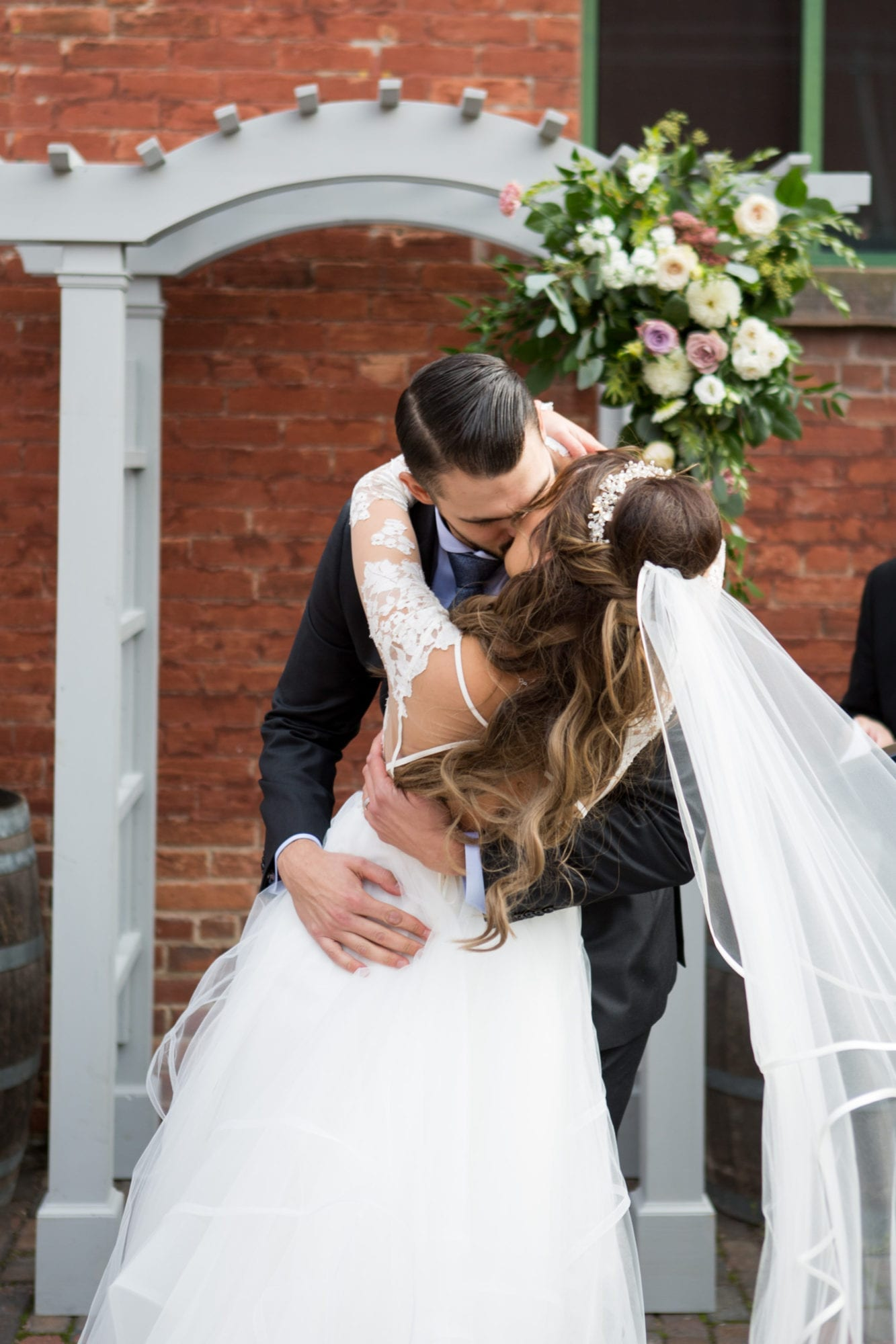 Ceremony Kiss Bride Groom Toronto Wedding Zsuzsi Pal Photography