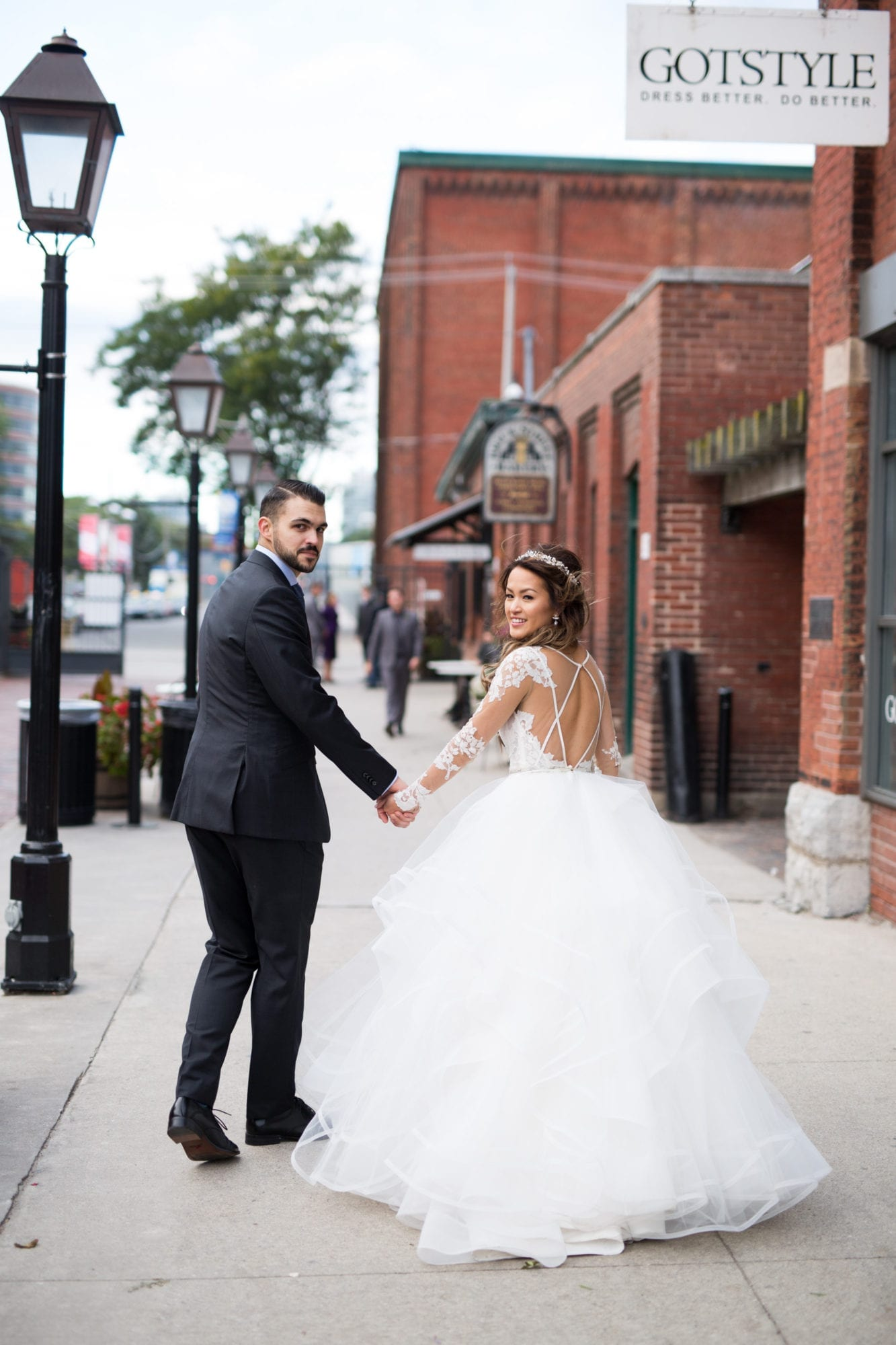 Couple Walk Distillery Toronto Wedding Zsuzsi Pal Photography