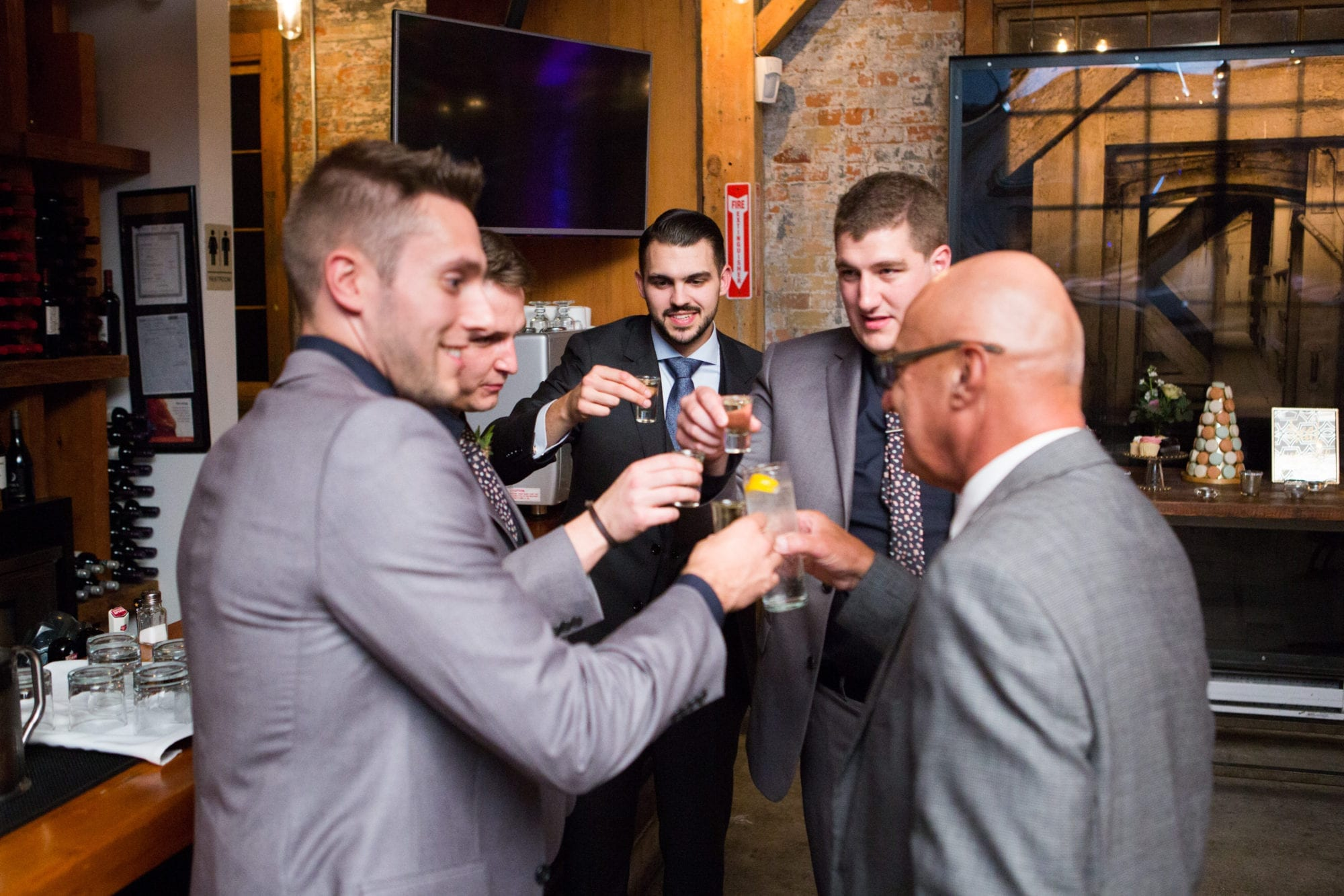 Groomsmen Shot Toast Toronto Wedding Zsuzsi Pal Photography