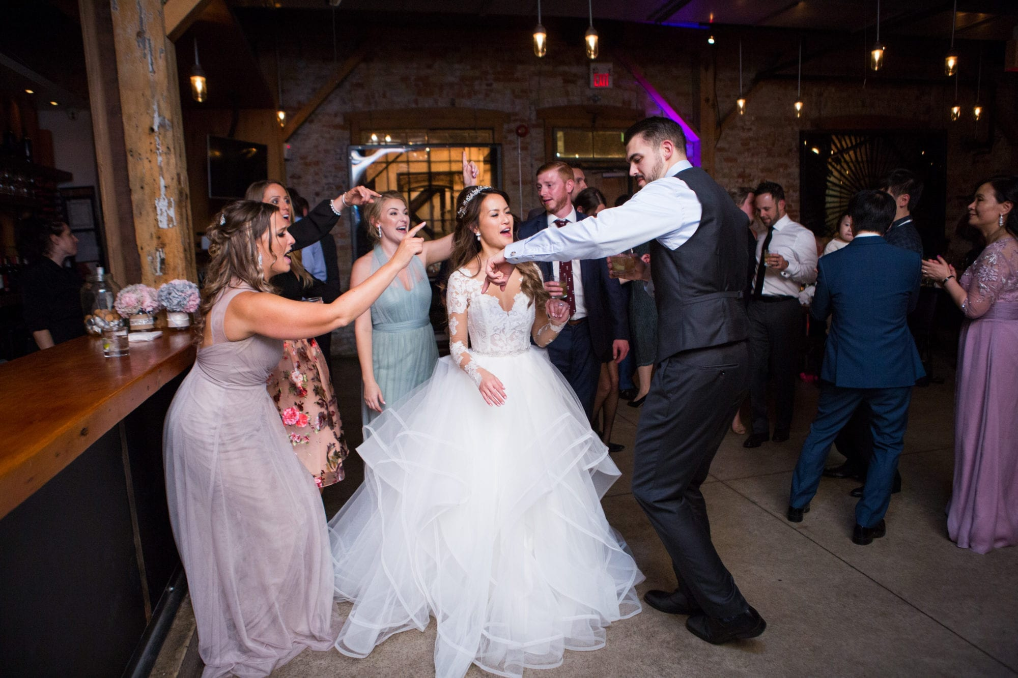 Wedding Party Dance Reception Dress Bride Groom Toronto Wedding Zsuzsi Pal Photography