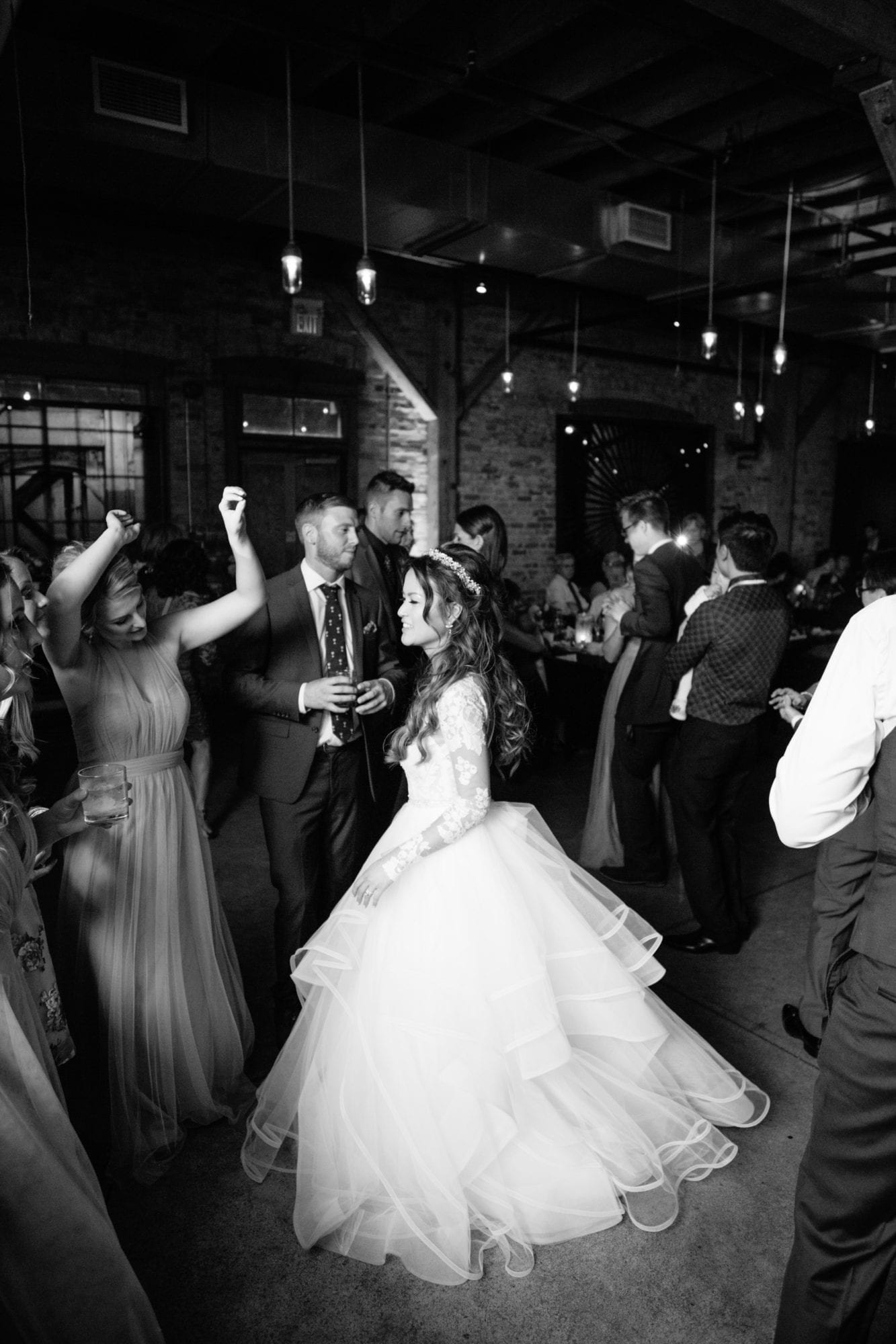 Black and White Dance Party Toronto Wedding Zsuzsi Pal Photography