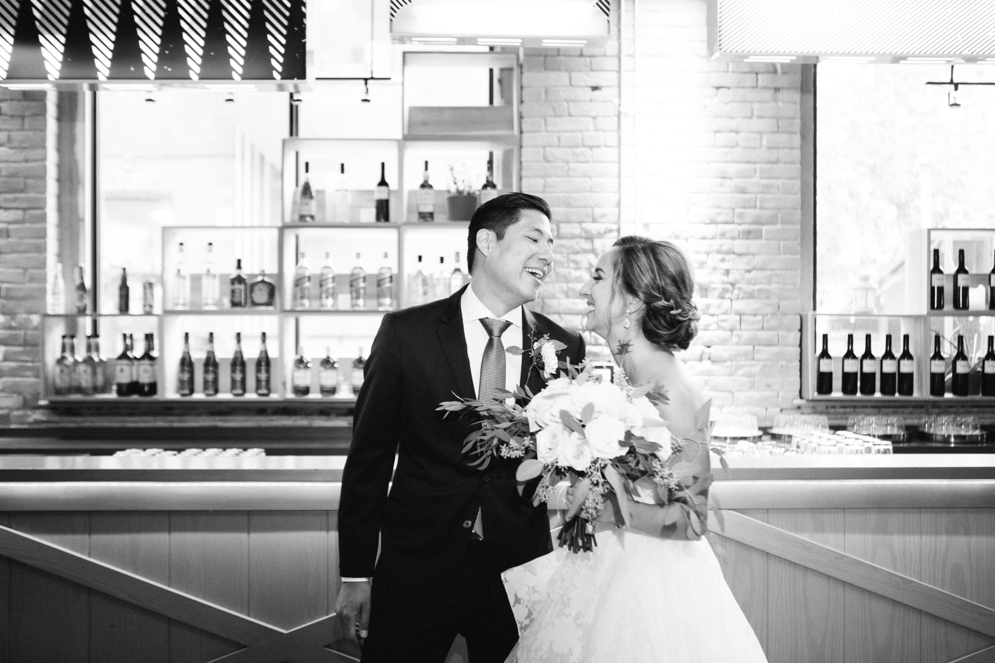 Bride Groom Black and White Zsuzsi Pal Photography Toronto Wedding 2nd Second Floor Events