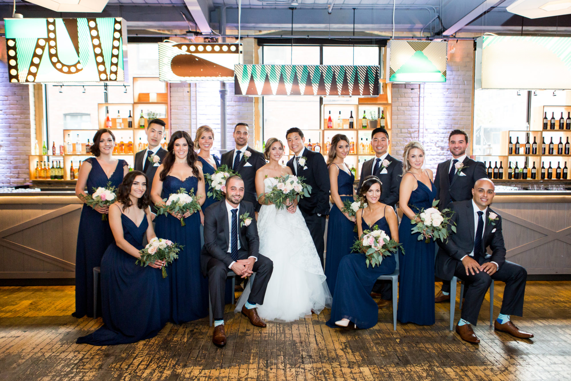 Bridal Party Bride Groom Zsuzsi Pal Photography Toronto Wedding 2nd Second Floor Events