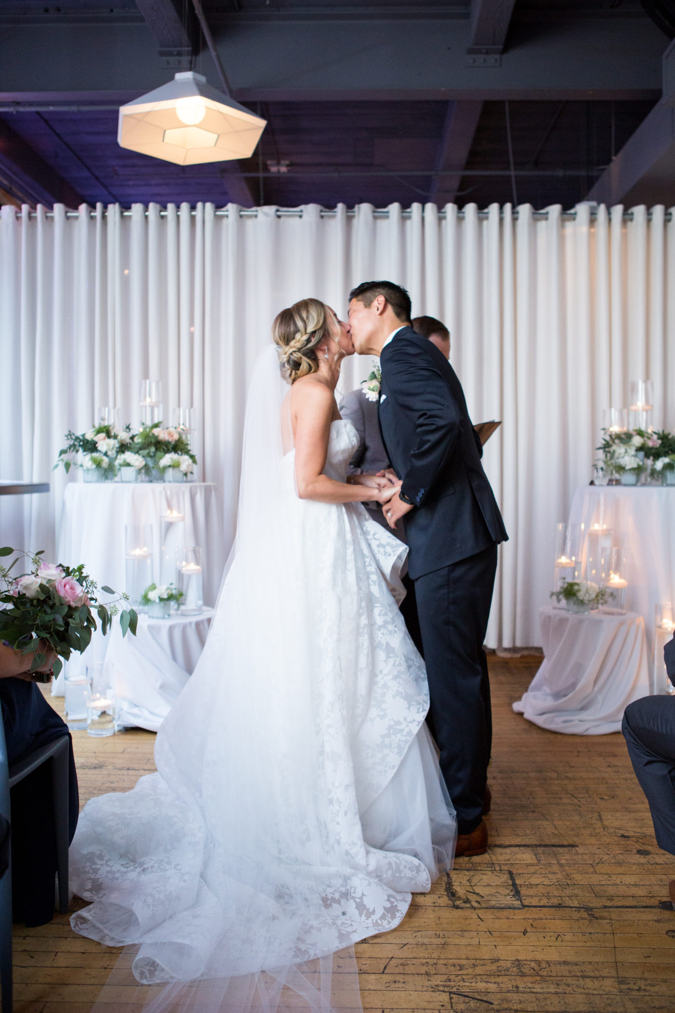 Bride Groom Kiss Zsuzsi Pal Photography Toronto Wedding 2nd Second Floor Events