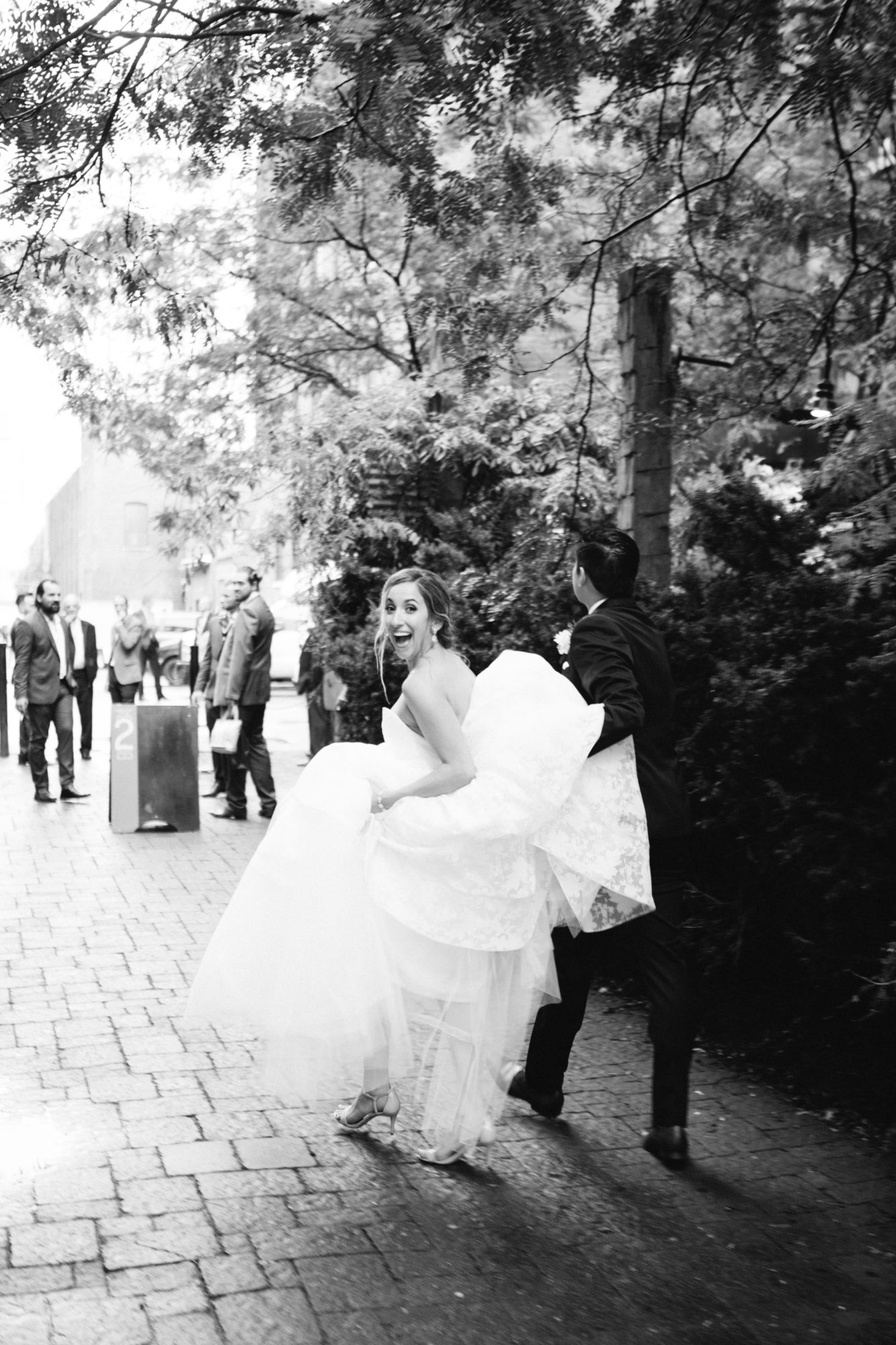 Bride Groom Candid Walk Zsuzsi Pal Photography Toronto Wedding 2nd Second Floor Events