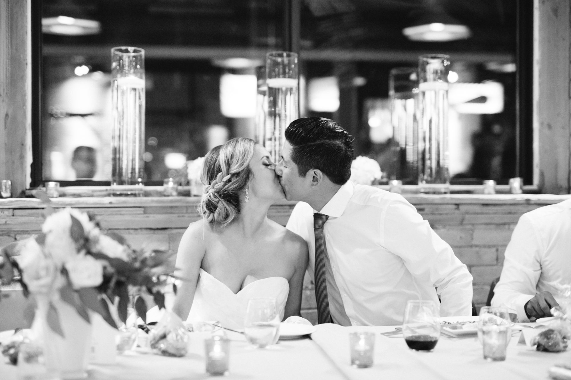 Reception Kiss Bride Groom Zsuzsi Pal Photography Toronto Wedding 2nd Second Floor Events