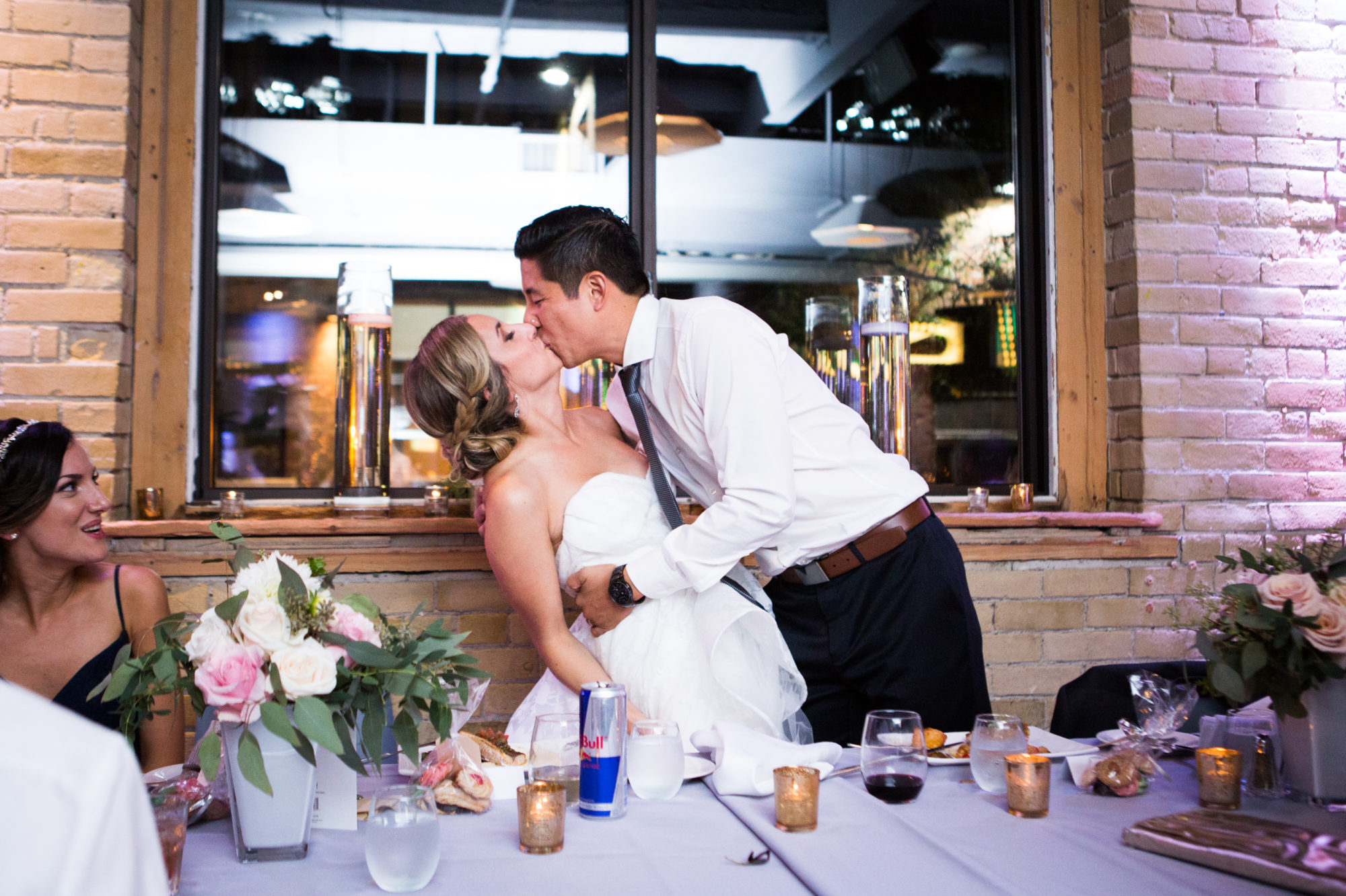 Bride Groom Kiss Dip Zsuzsi Pal Photography Toronto Wedding 2nd Second Floor Events